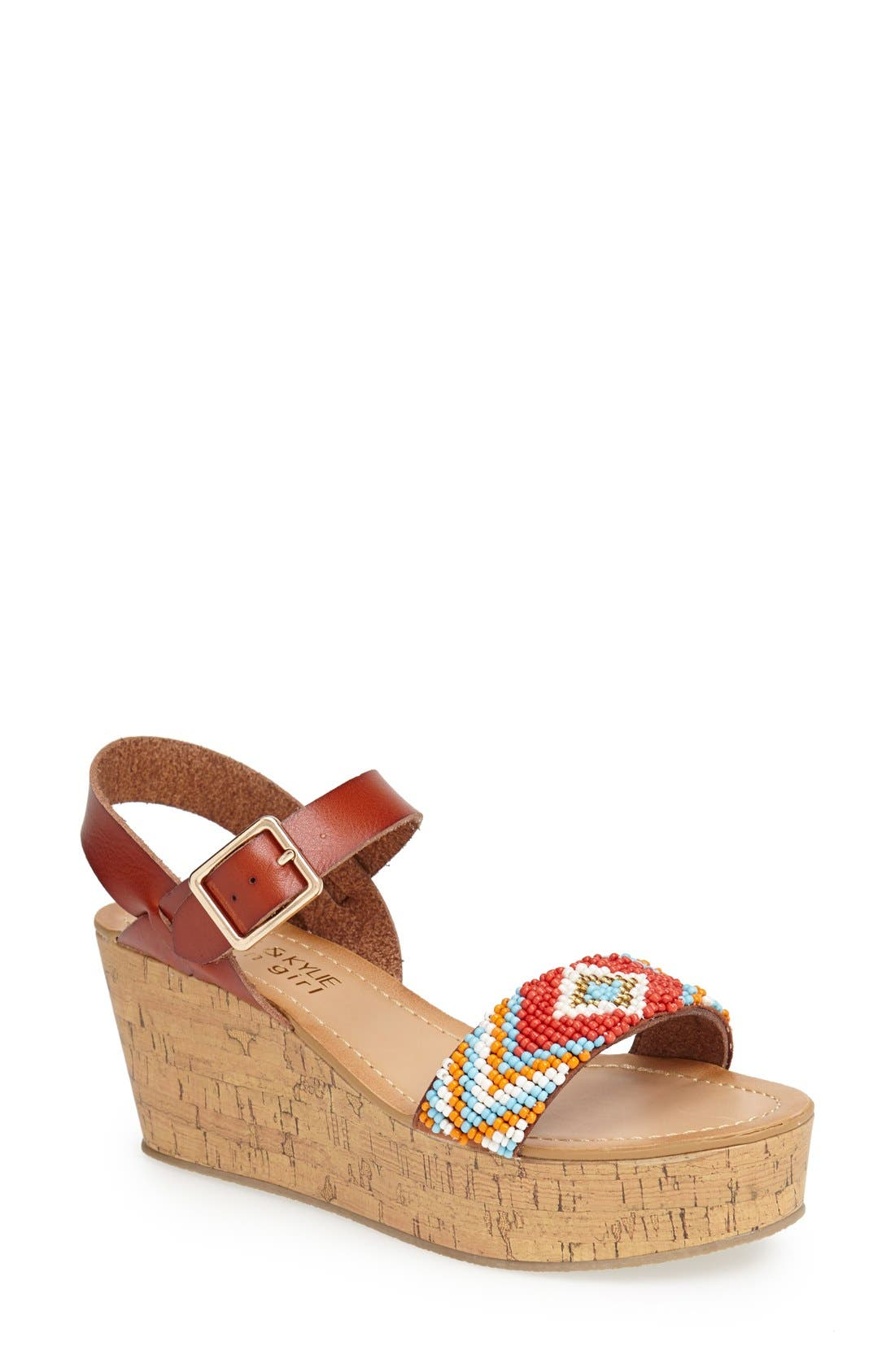Alternate Image 1 Selected - KENDALL + KYLIE Madden Girl 'Avaalon' Wedge Sandal (Women)