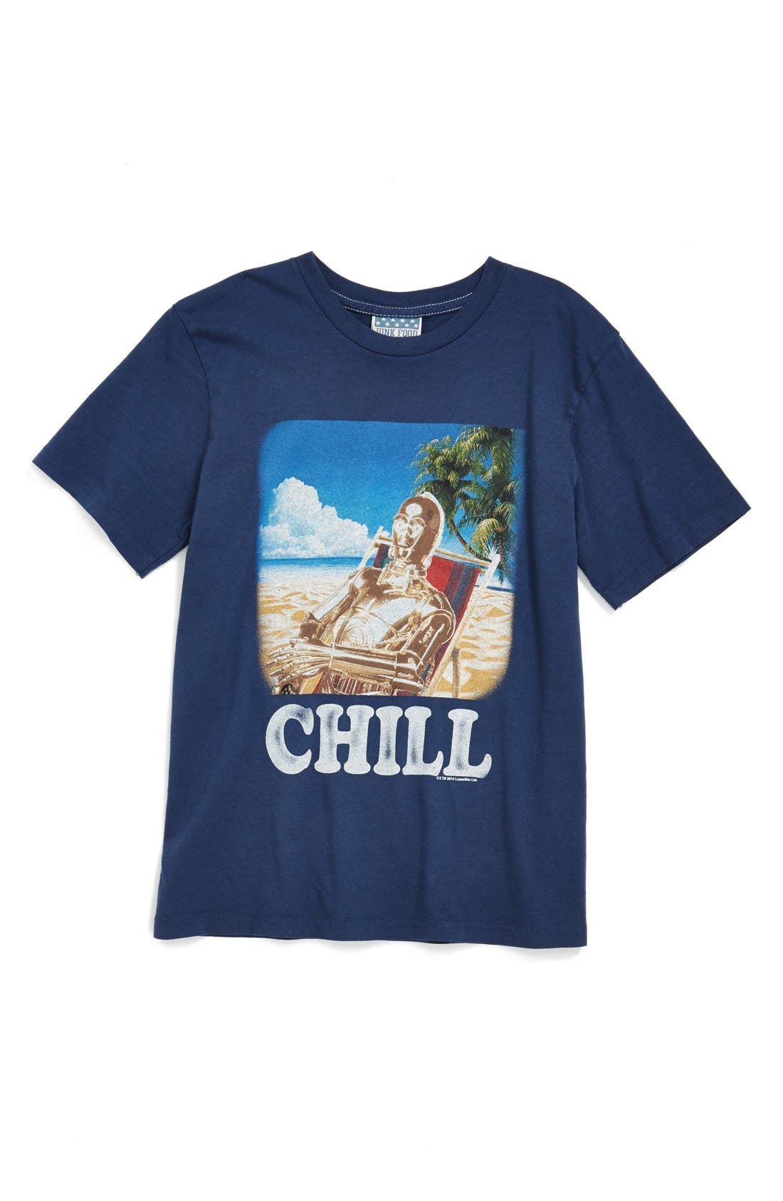 Main Image - Junk Food 'Star Wars™ Chill' Cotton Jersey T-Shirt (Little Boys & Big Boys)