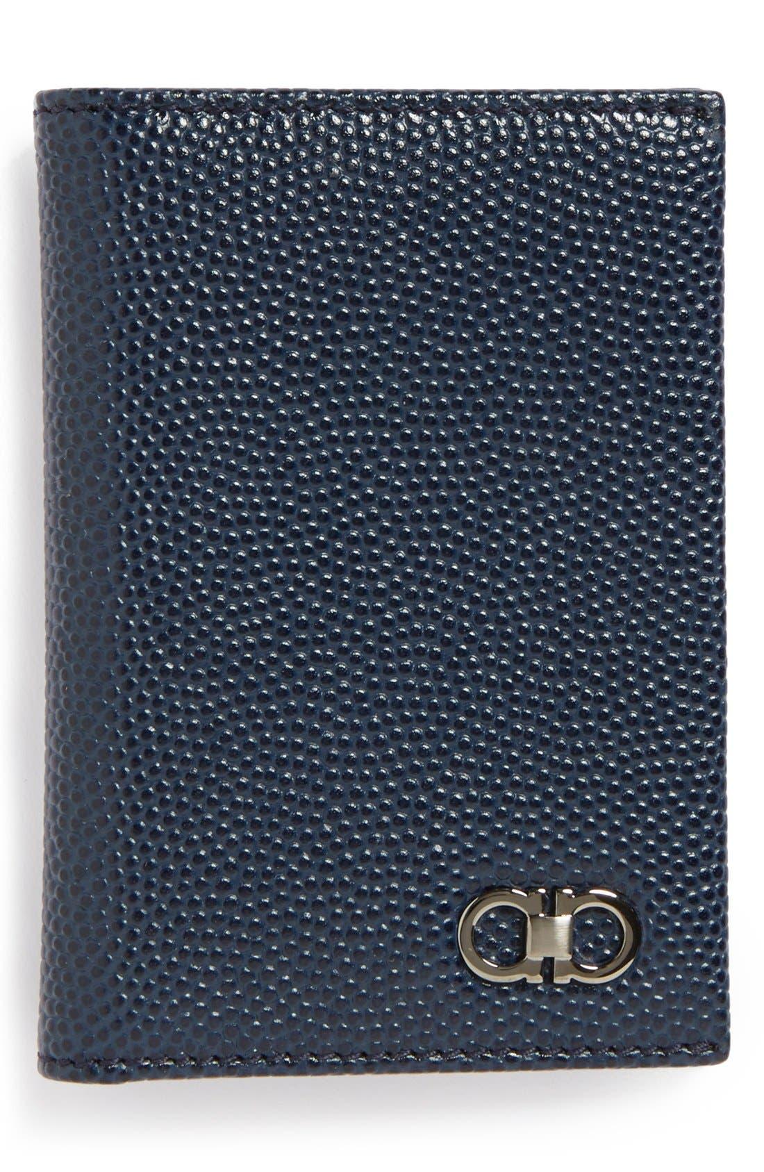 Main Image - Salvatore Ferragamo 'Ten Forty One' Leather Card Case