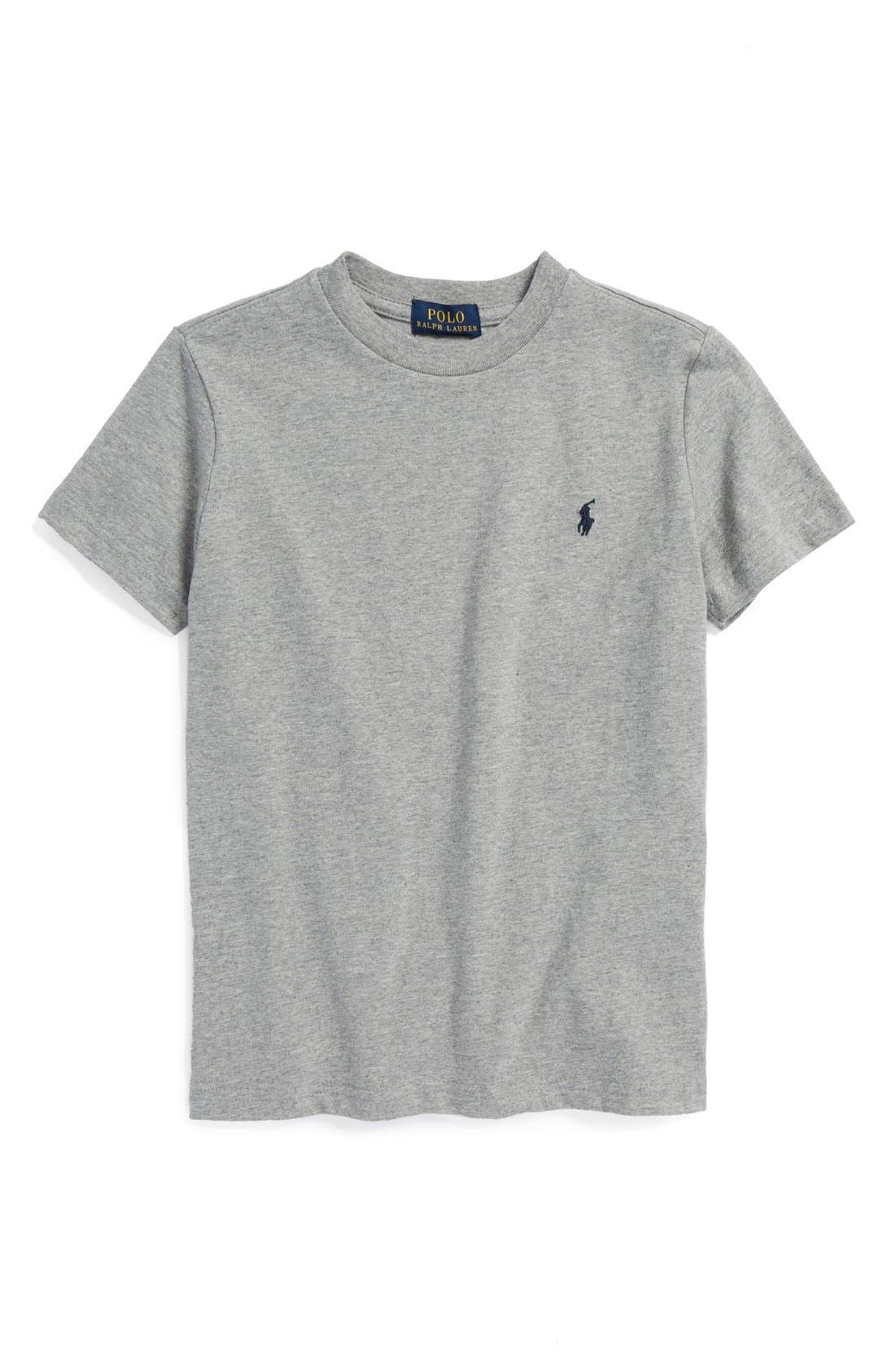 Alternate Image 1 Selected - Ralph Lauren Cotton Crewneck T-Shirt (Big Boys)