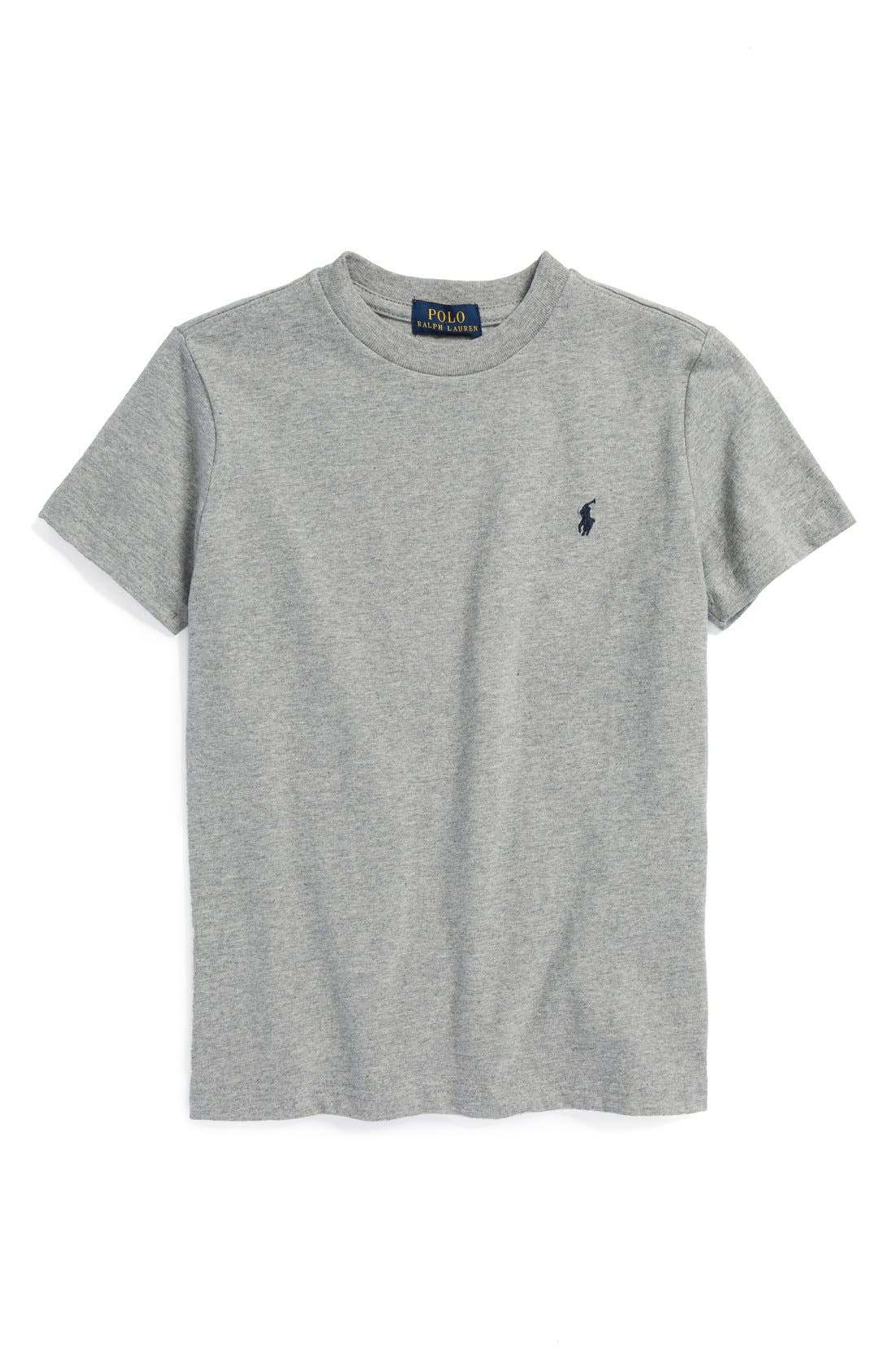 Main Image - Ralph Lauren Cotton Crewneck T-Shirt (Big Boys)