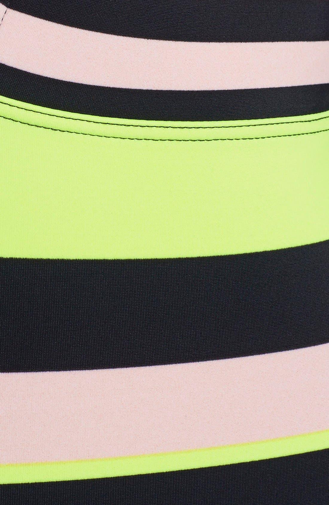 Alternate Image 3  - Ted Baker London 'Loop' Stripe Plunge One-Piece Swimsuit
