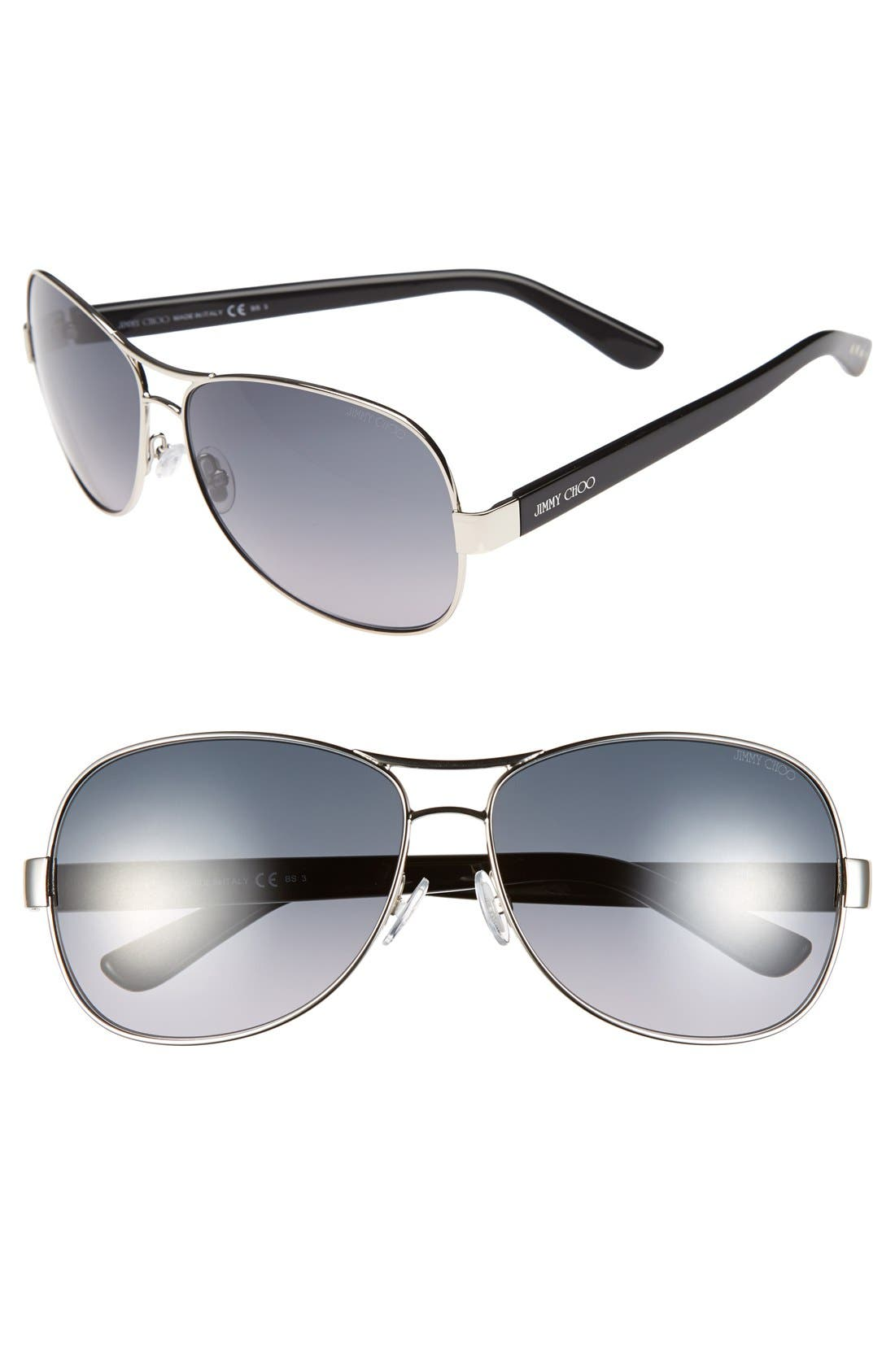 Alternate Image 1 Selected - Jimmy Choo 'Bexs' 60mm Sunglasses (Online Only)
