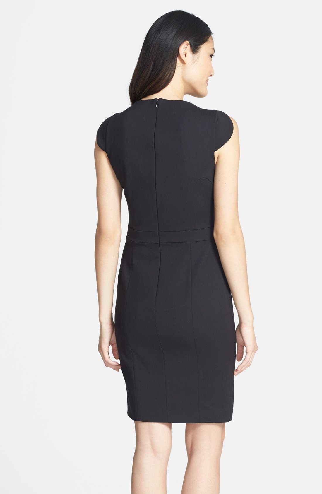 Alternate Image 2  - French Connection 'Lolo' Seamed Sheath Dress