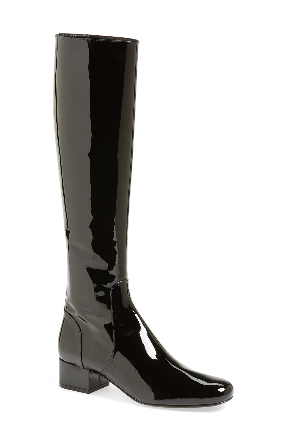 Main Image - Saint Laurent Over the Knee Patent Leather Boot (Women)