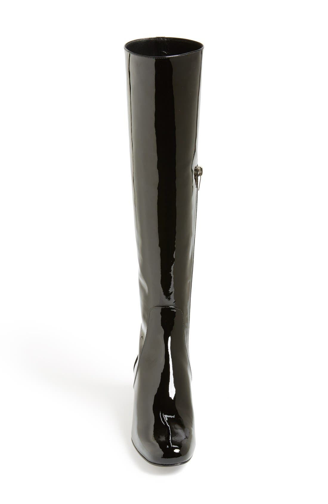 Alternate Image 3  - Saint Laurent Over the Knee Patent Leather Boot (Women)