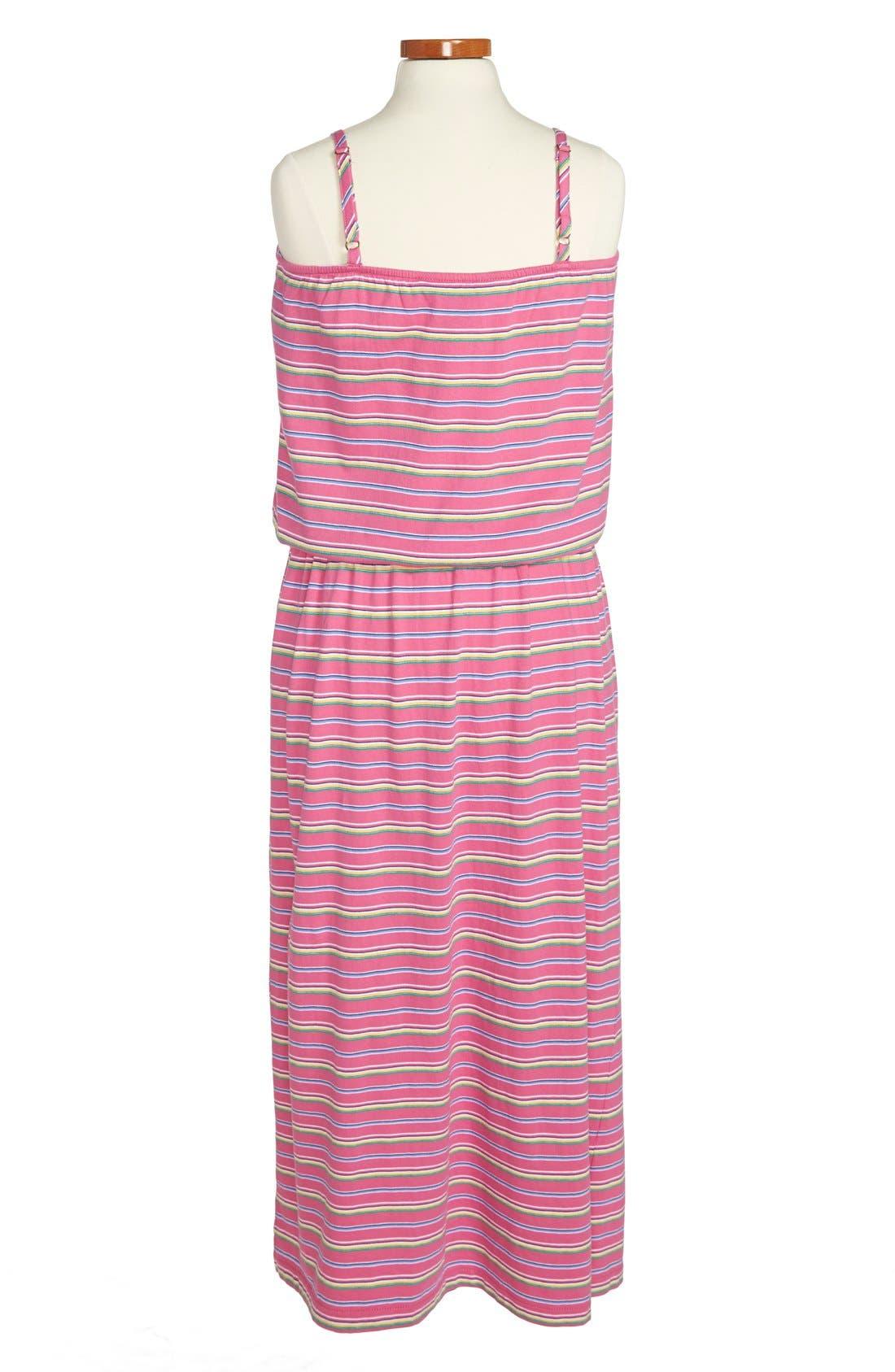 Alternate Image 2  - Ralph Lauren Stripe Cotton Maxi Dress (Big Girls)