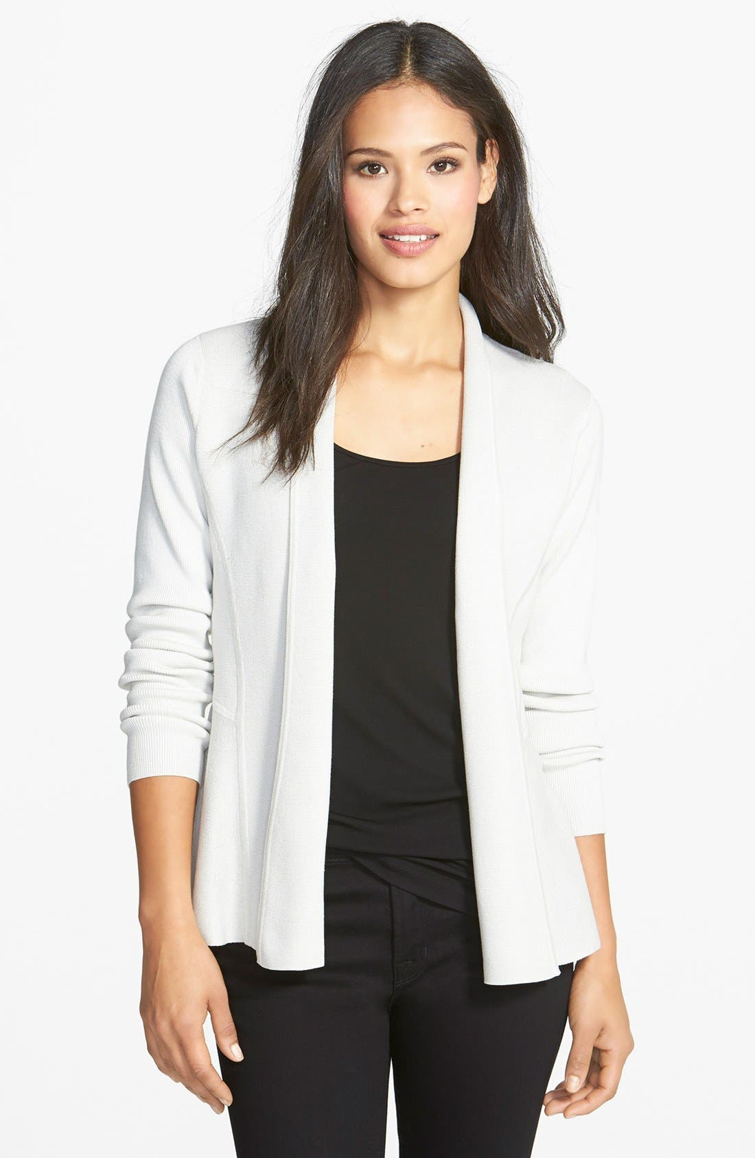 Alternate Image 1 Selected - Eileen Fisher Fitted Sweater Jacket (Regular & Petite)