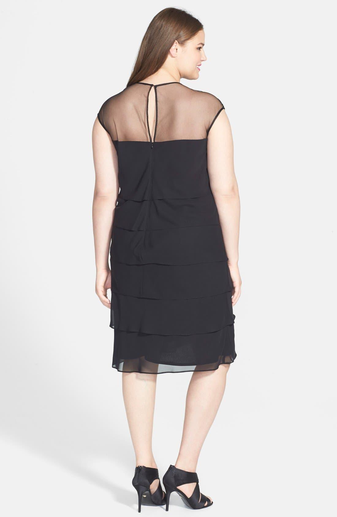 Alternate Image 2  - Patra Beaded Yoke Tiered Dress (Plus Size)