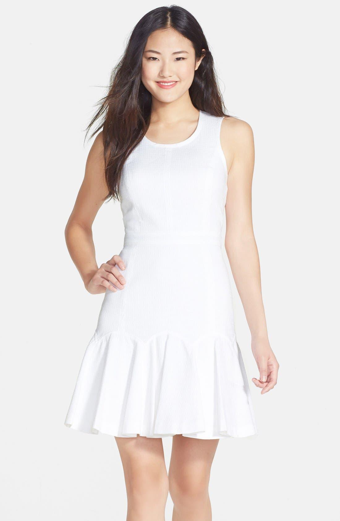 Alternate Image 1 Selected - Ali Ro Flounce Hem Knit Dress
