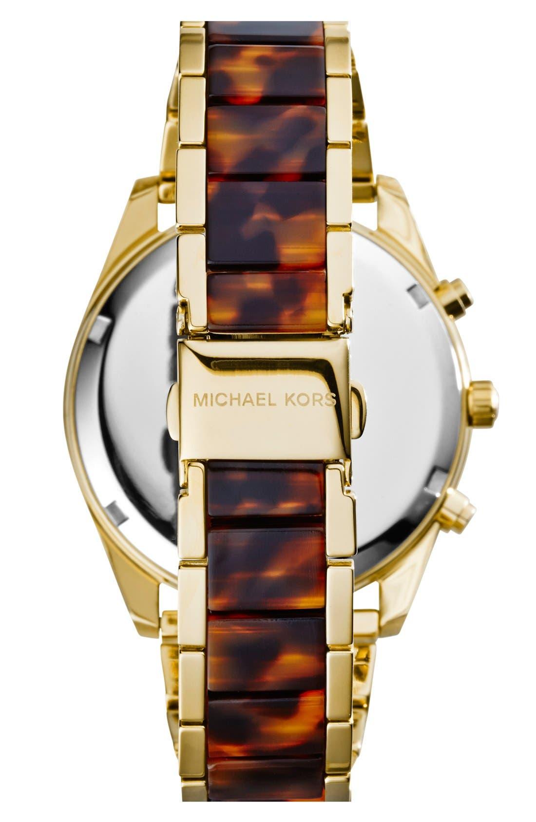 Alternate Image 2  - Michael Kors 'Clarkson' Chronograph Acetate Link Bracelet Watch, 42mm