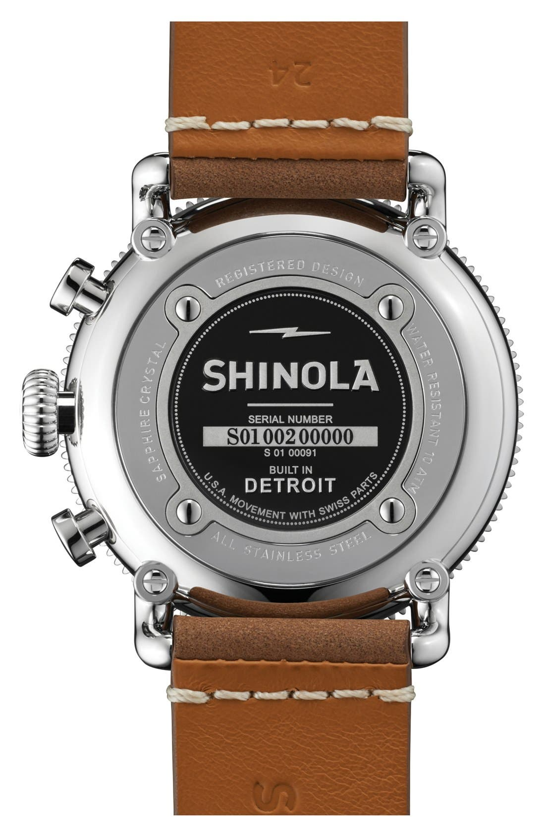 Alternate Image 2  - Shinola 'The Runwell' Chronograph Leather Strap Watch, 48mm