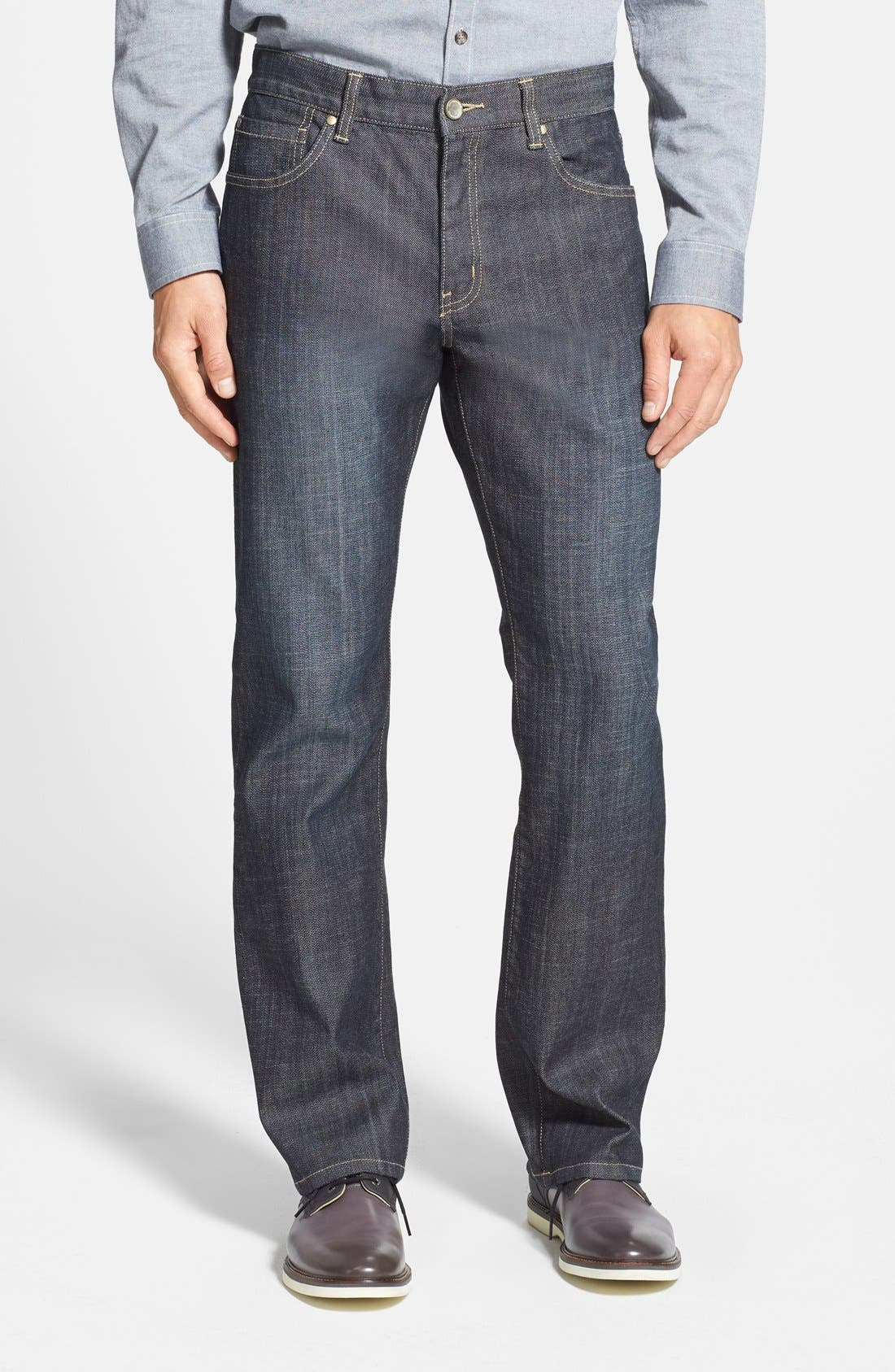 Alternate Image 1 Selected - Cutter & Buck 'West Mercer' Straight Leg Jeans (Midnight)