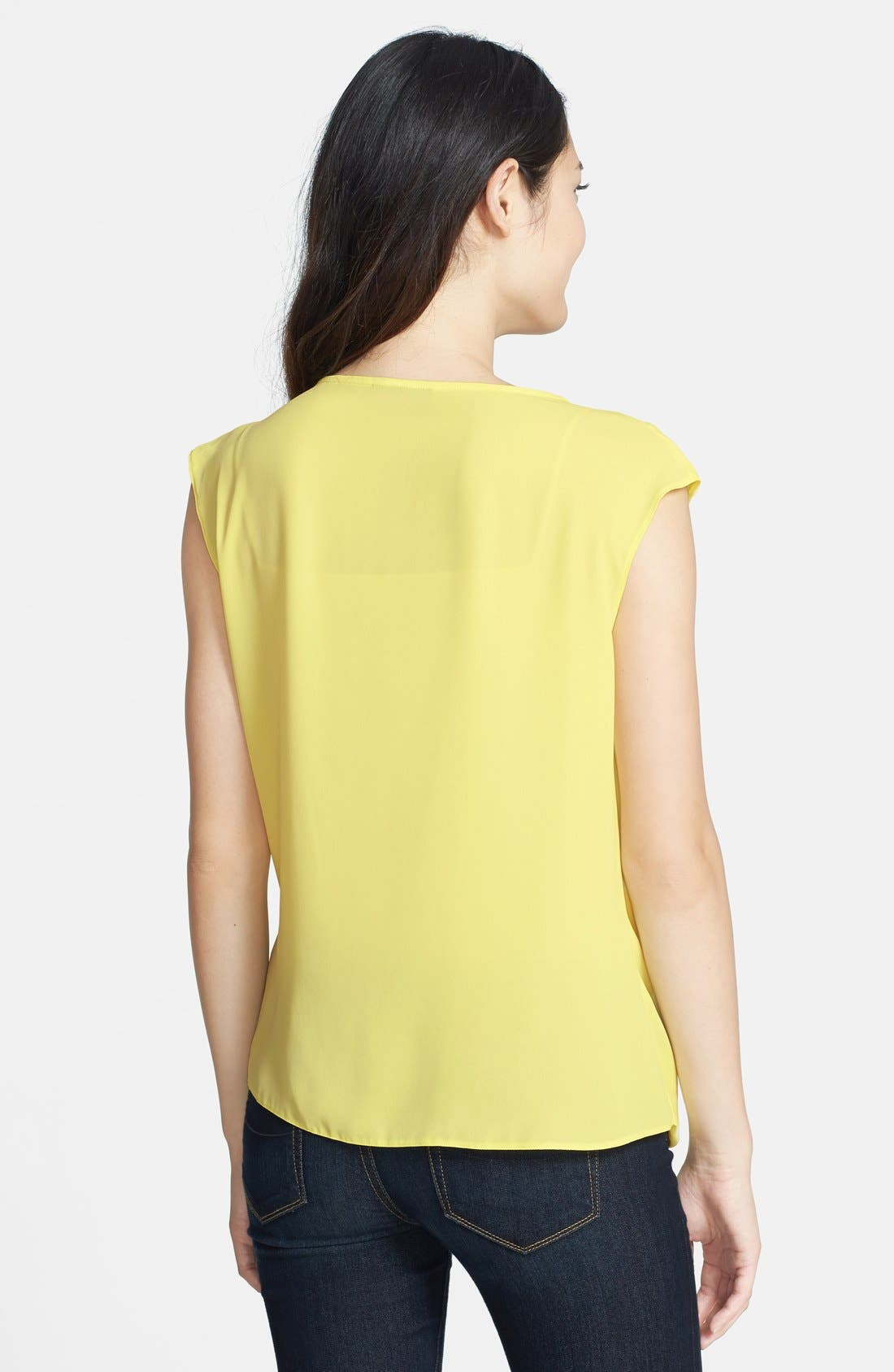 Alternate Image 2  - Wallis Sleeveless Drape Front Blouse