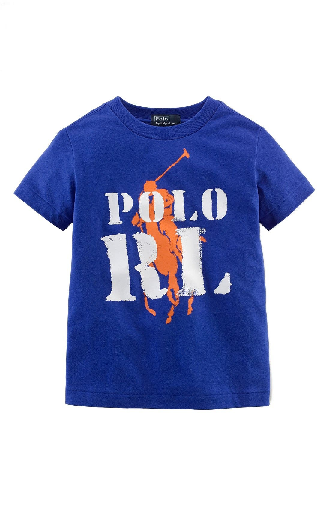 Alternate Image 1 Selected - Ralph Lauren Graphic Print Cotton T-Shirt (Toddler Boys)