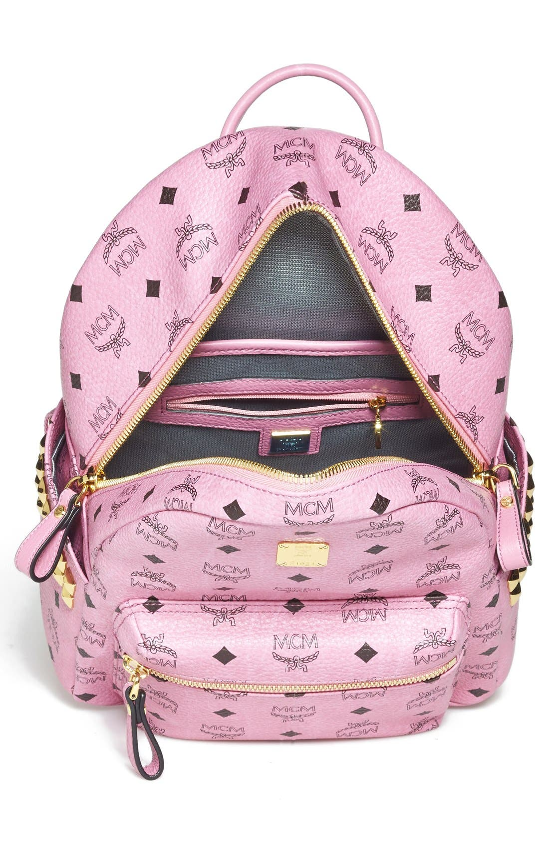 Alternate Image 3  - MCM 'Small - Visetos' Coated Canvas Backpack