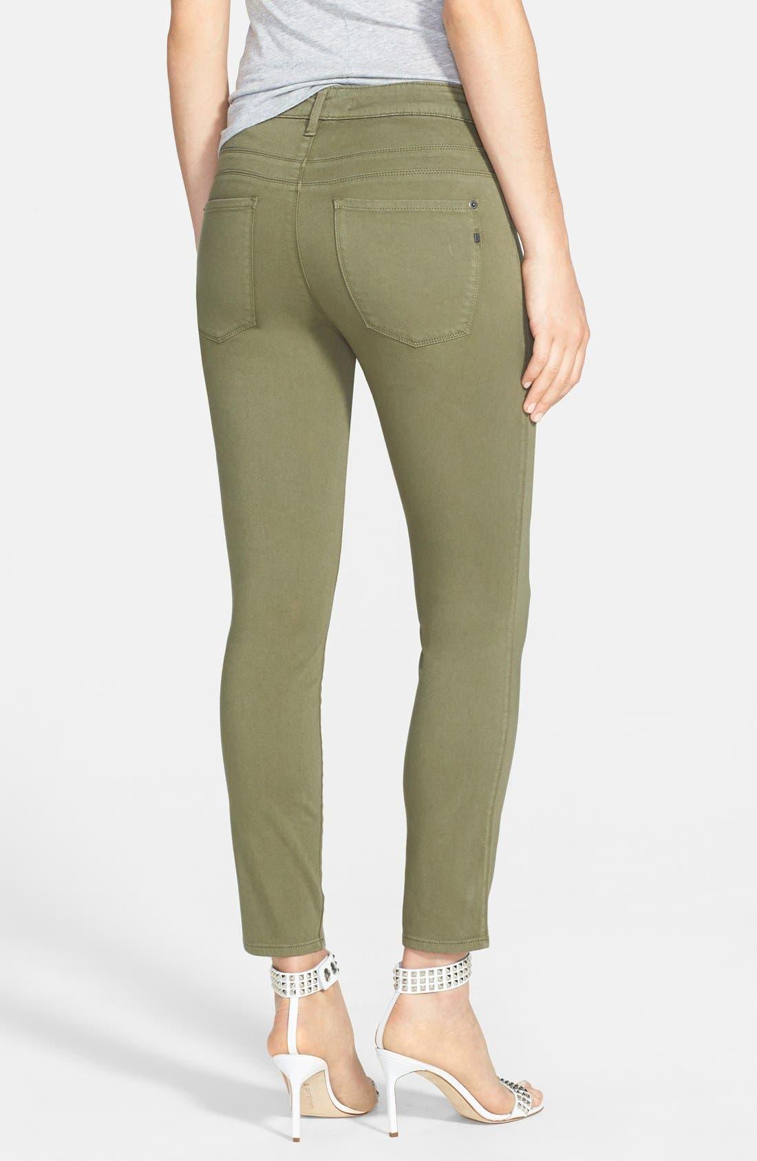 Alternate Image 2  - Genetic 'Loren' Crop Skinny Jeans (Clash)