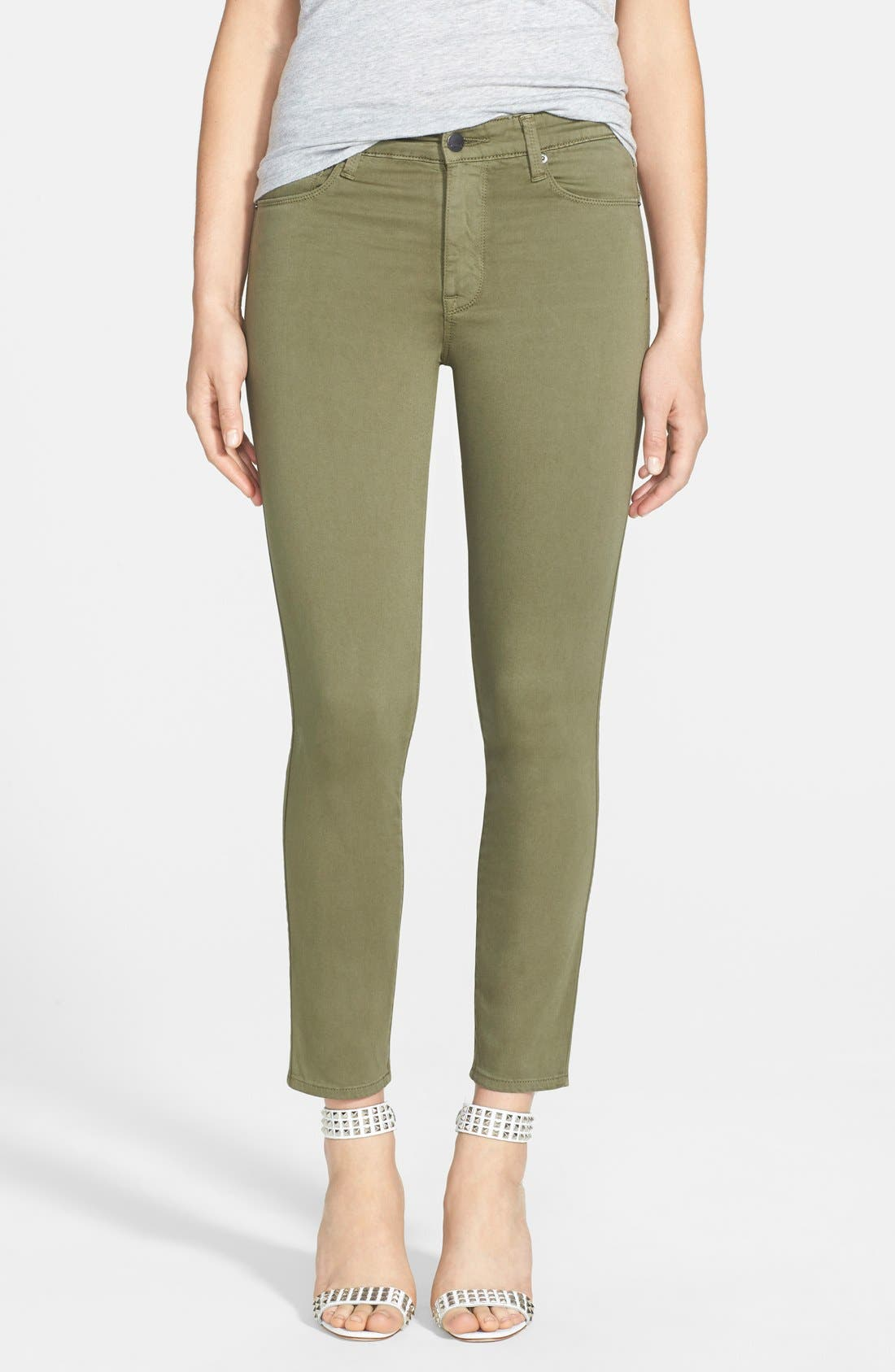 Main Image - Genetic 'Loren' Crop Skinny Jeans (Clash)