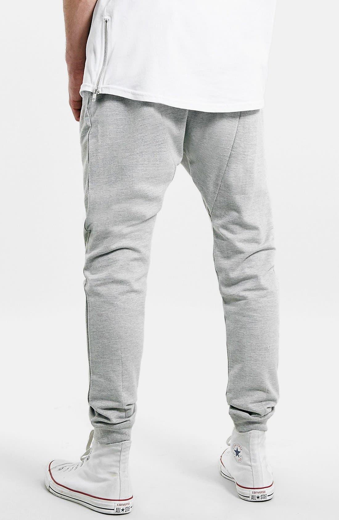 Alternate Image 2  - Topman Heathered Jogger Pants