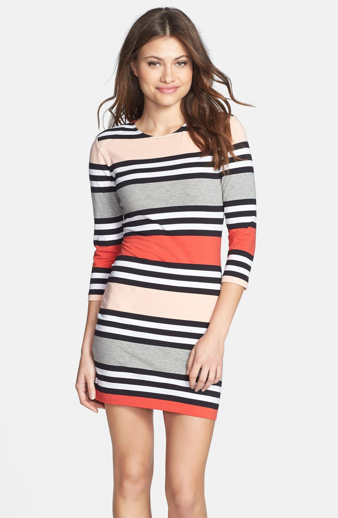 Alternate Image 1 Selected - French Connection 'Jag' Multi Stripe Jersey Dress