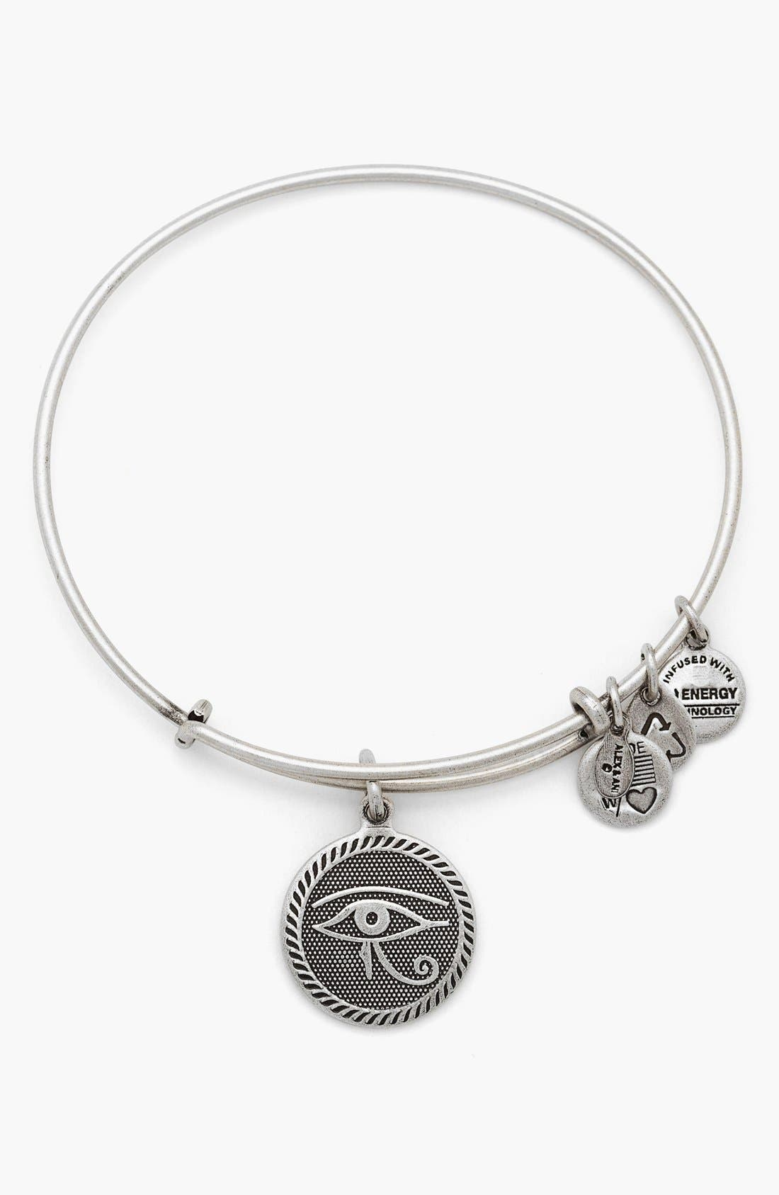 Main Image - Alex and Ani 'Eye of Horus' Expandable Wire Bangle