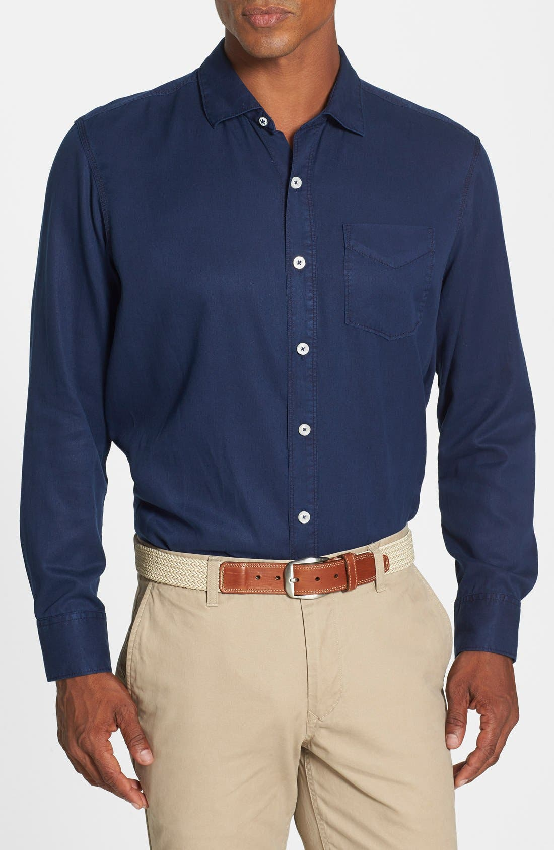 Main Image - Tommy Bahama Denim 'Still Twillin' Island Modern Fit Sport Shirt