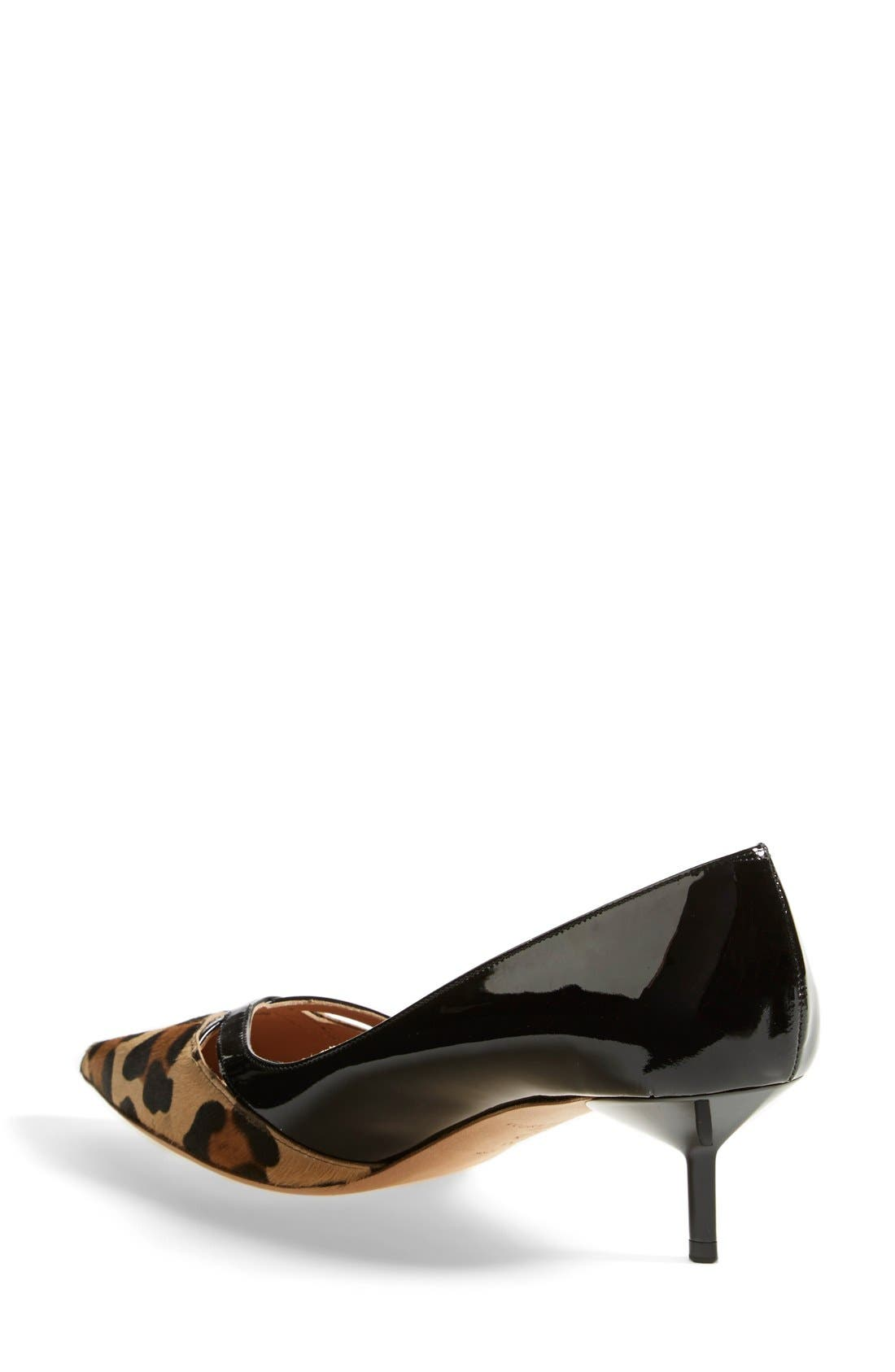Alternate Image 2  - Kurt Geiger London 'Cassidy Leo' Kitten Heel Pointy Toe Pump (Women)