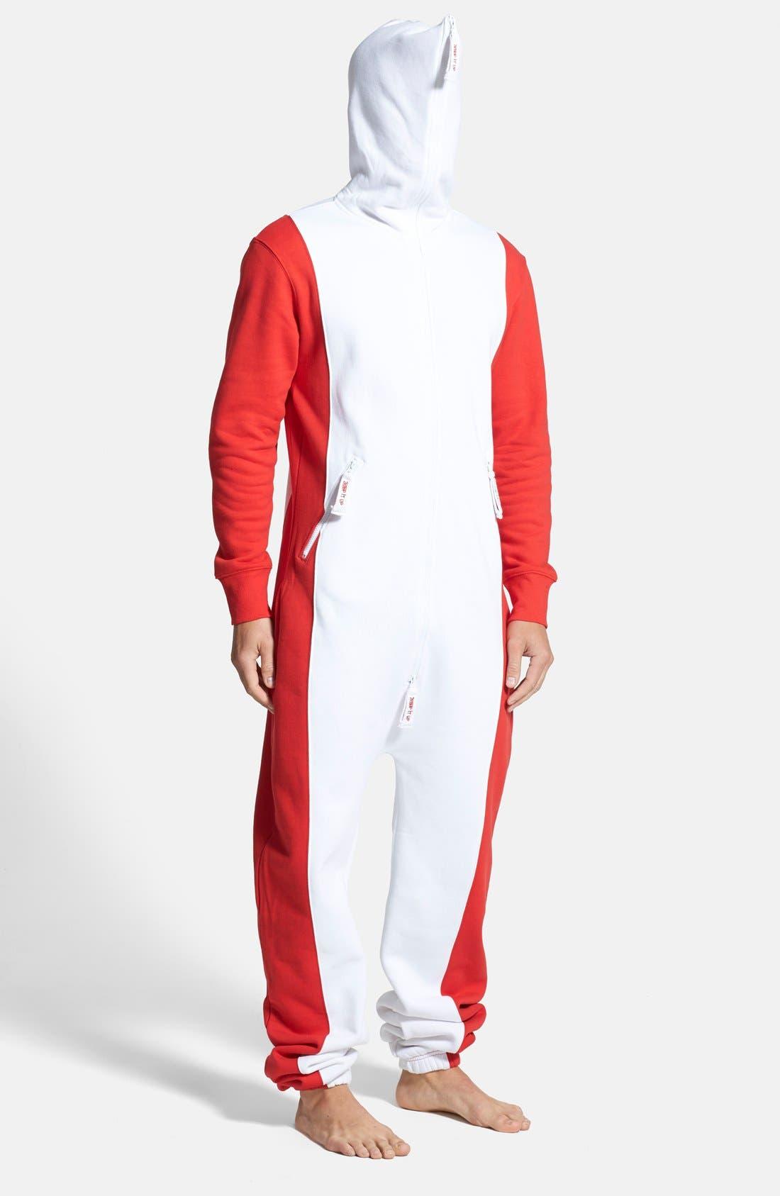 Alternate Image 4  - ZOOOP iT UP™ Canada Flag Zip Hoodie Jumpsuit