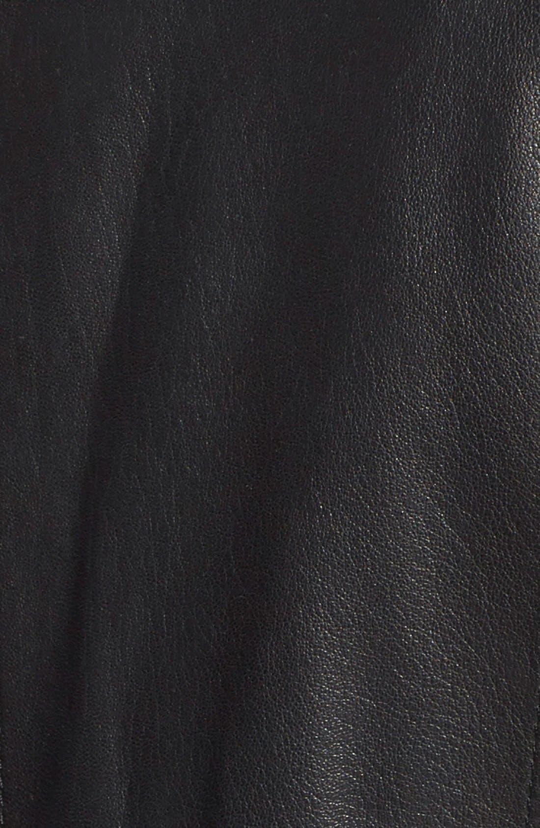 Alternate Image 3  - Cole Haan Notch Collar Lambskin Leather Jacket (Regular & Petite)