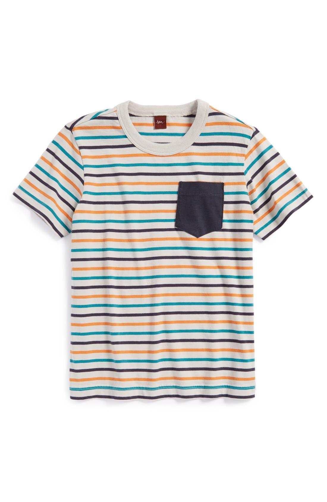 Main Image - Tea Collection 'Elbe' Stripe Cotton T-Shirt (Toddler Boys & Little Boys)