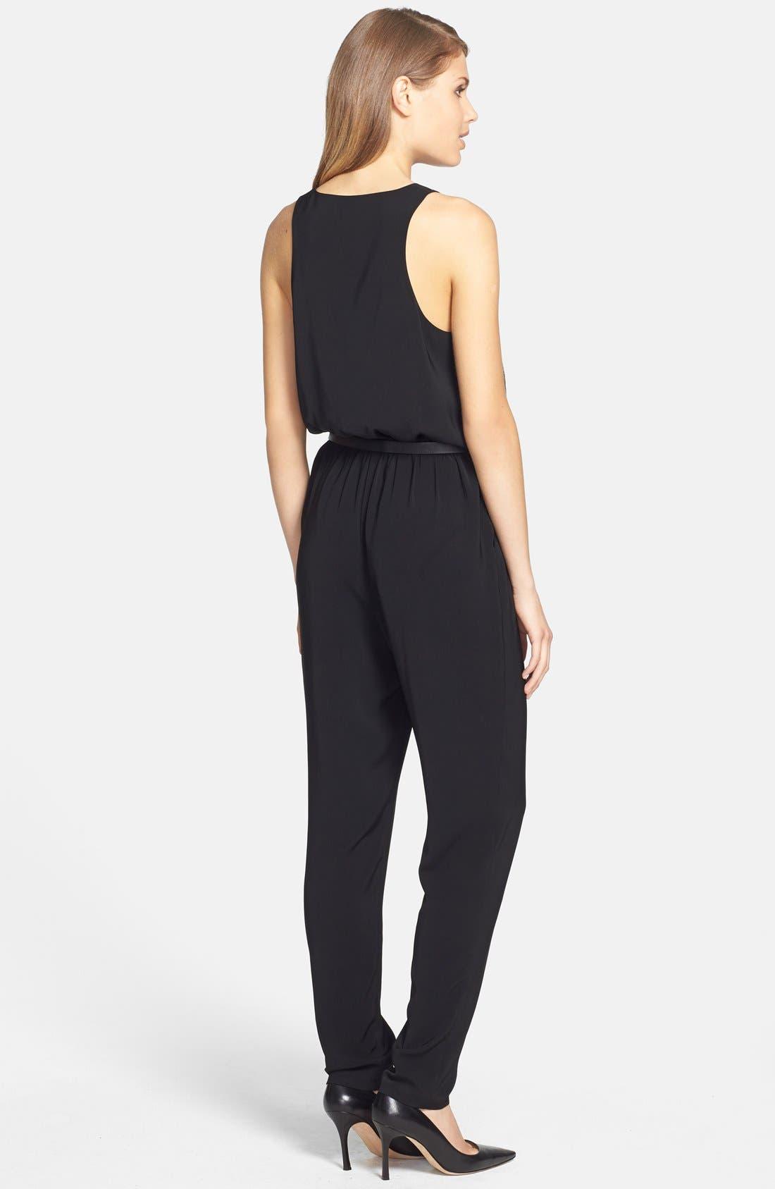 Alternate Image 2  - DKNYC Belted Surplice Jumpsuit
