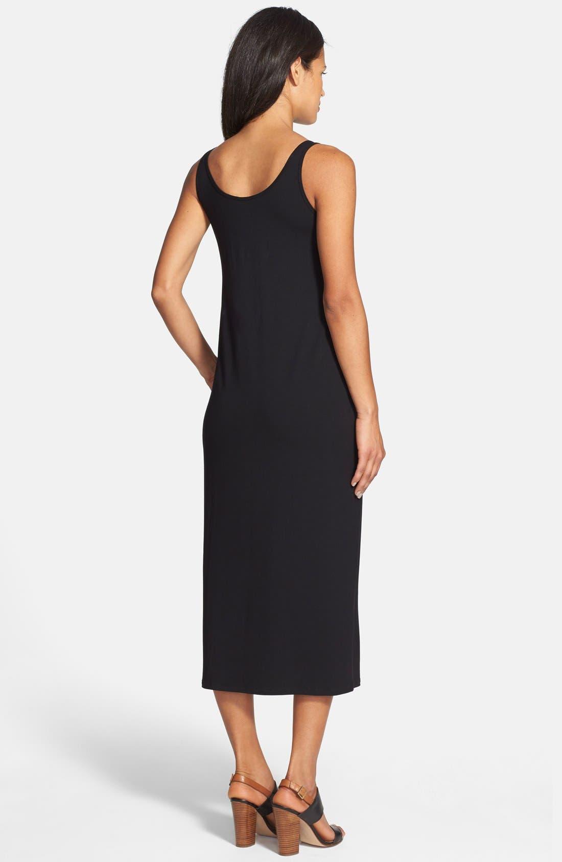 Alternate Image 2  - Eileen Fisher Scoop Neck Jersey Dress (Regular & Petite)
