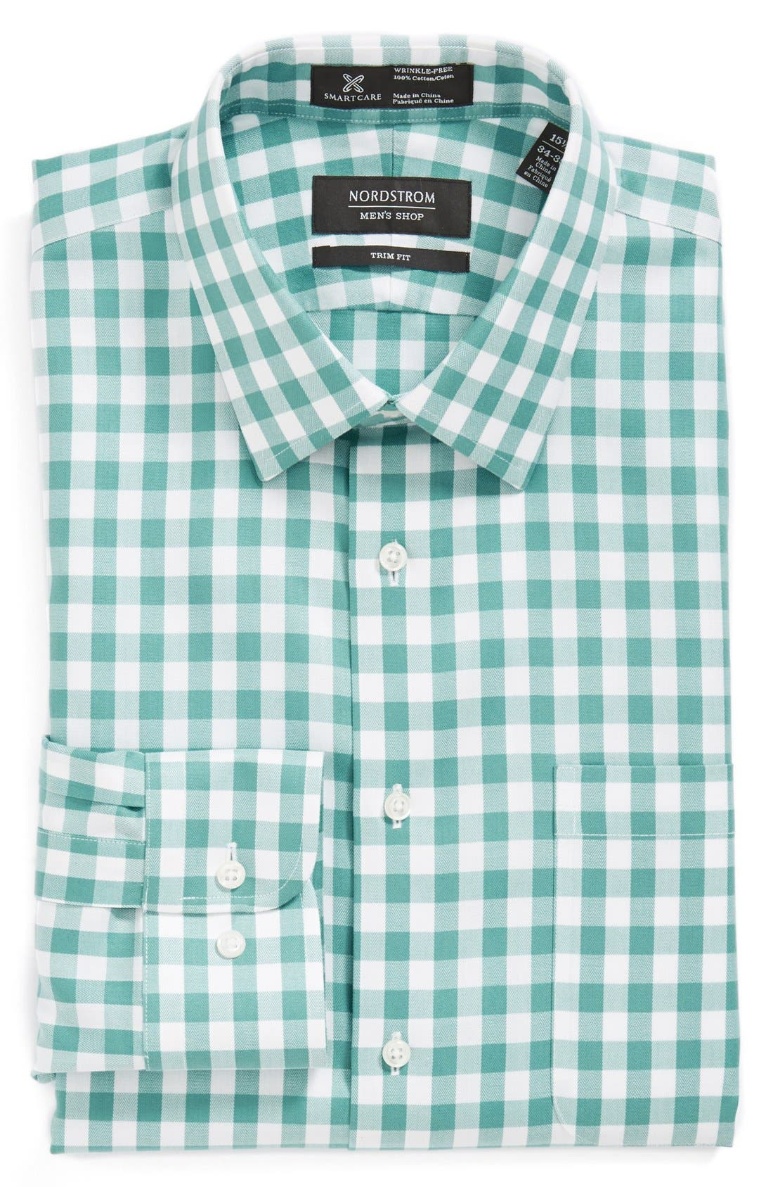 Main Image - Nordstrom Smartcare™ Trim Fit Check Dress Shirt