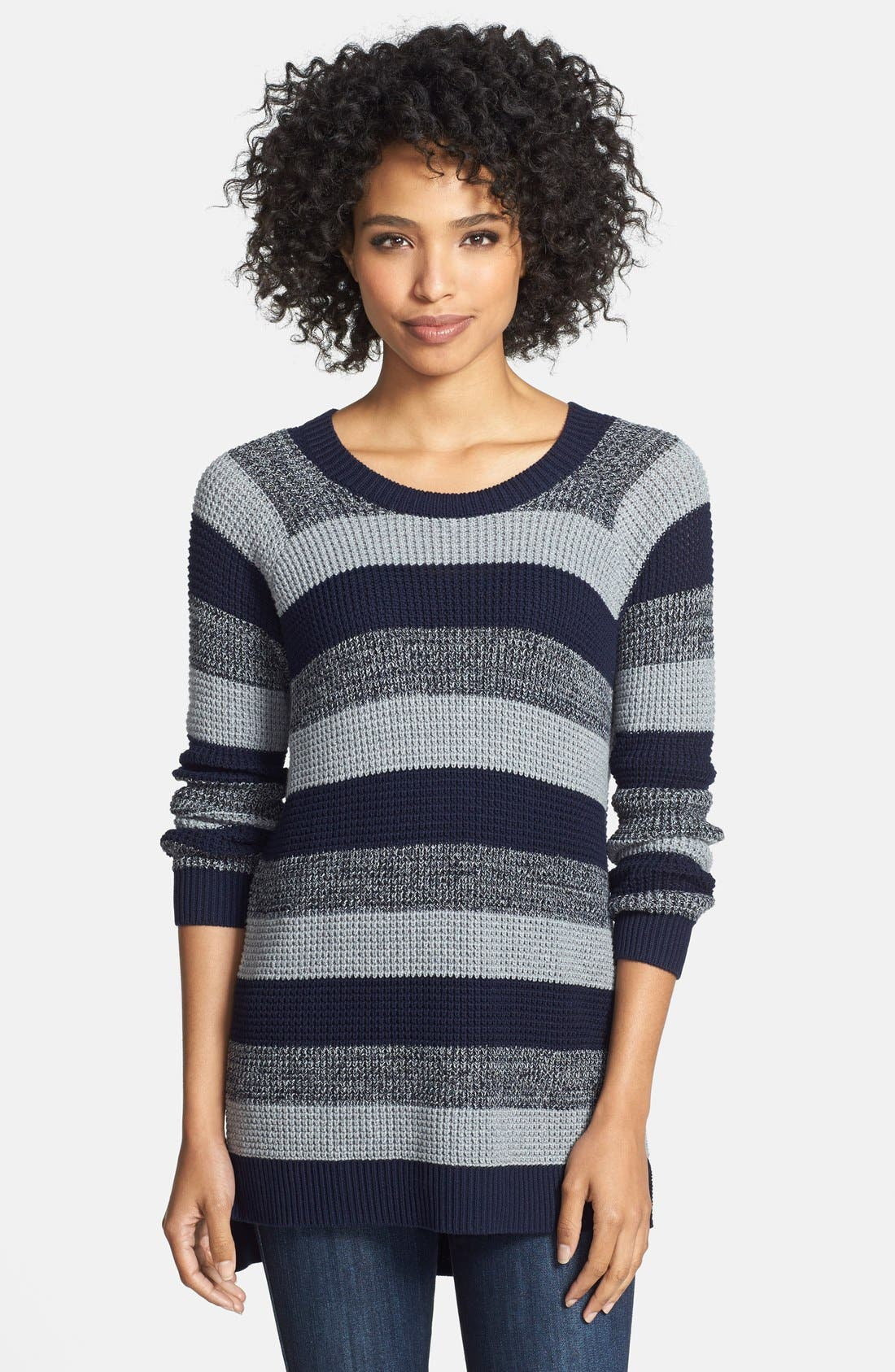 Alternate Image 1 Selected - Two by Vince Camuto Stripe Raglan Sleeve Sweater