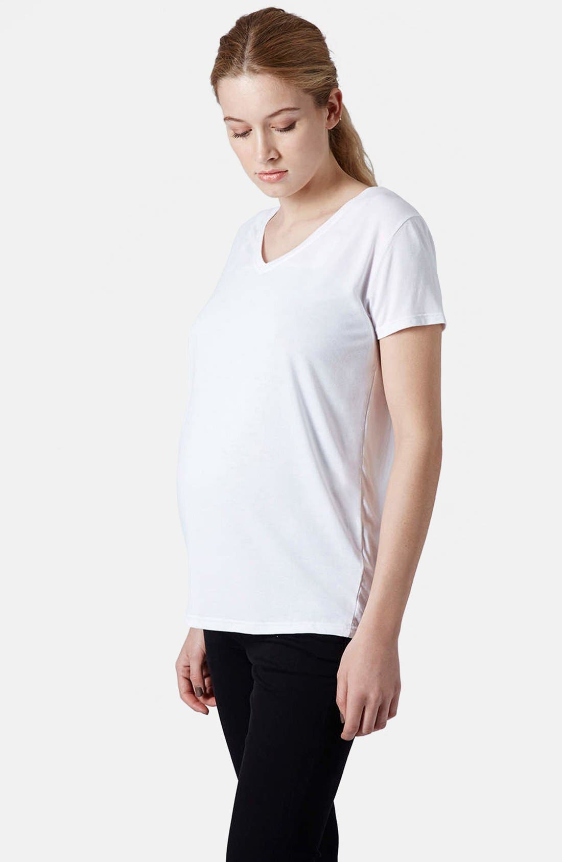 Alternate Image 1 Selected - Topshop V-Neck Maternity Tee