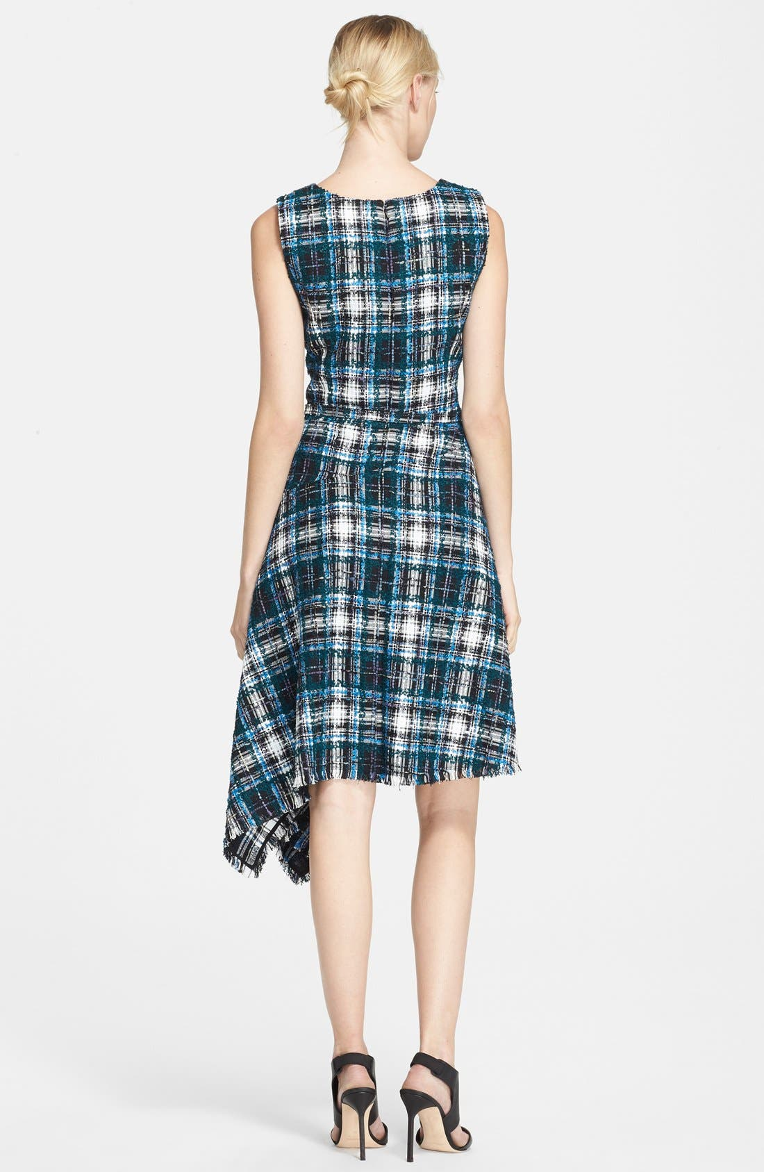Alternate Image 2  - Oscar de la Renta Asymmetrical Tweed Dress