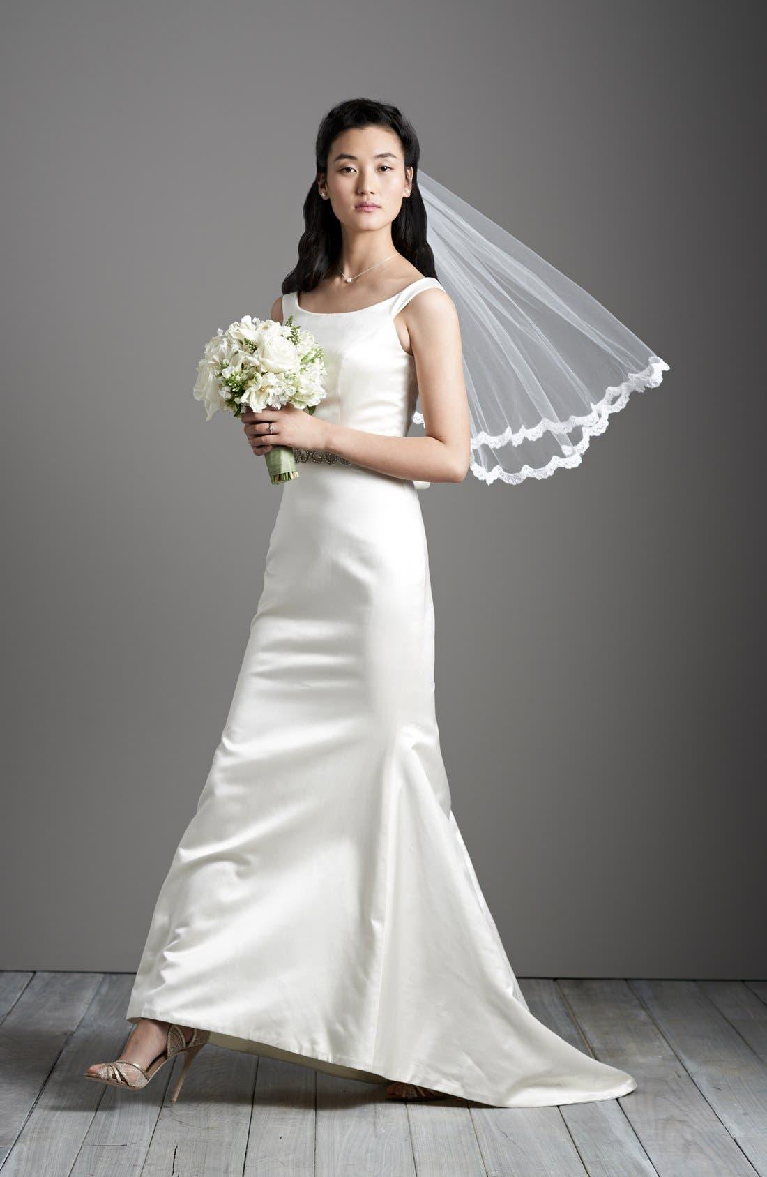 Alternate Image 4  - Caroline DeVillo 'Lauren' Silk Trumpet Dress (In Stores Only)