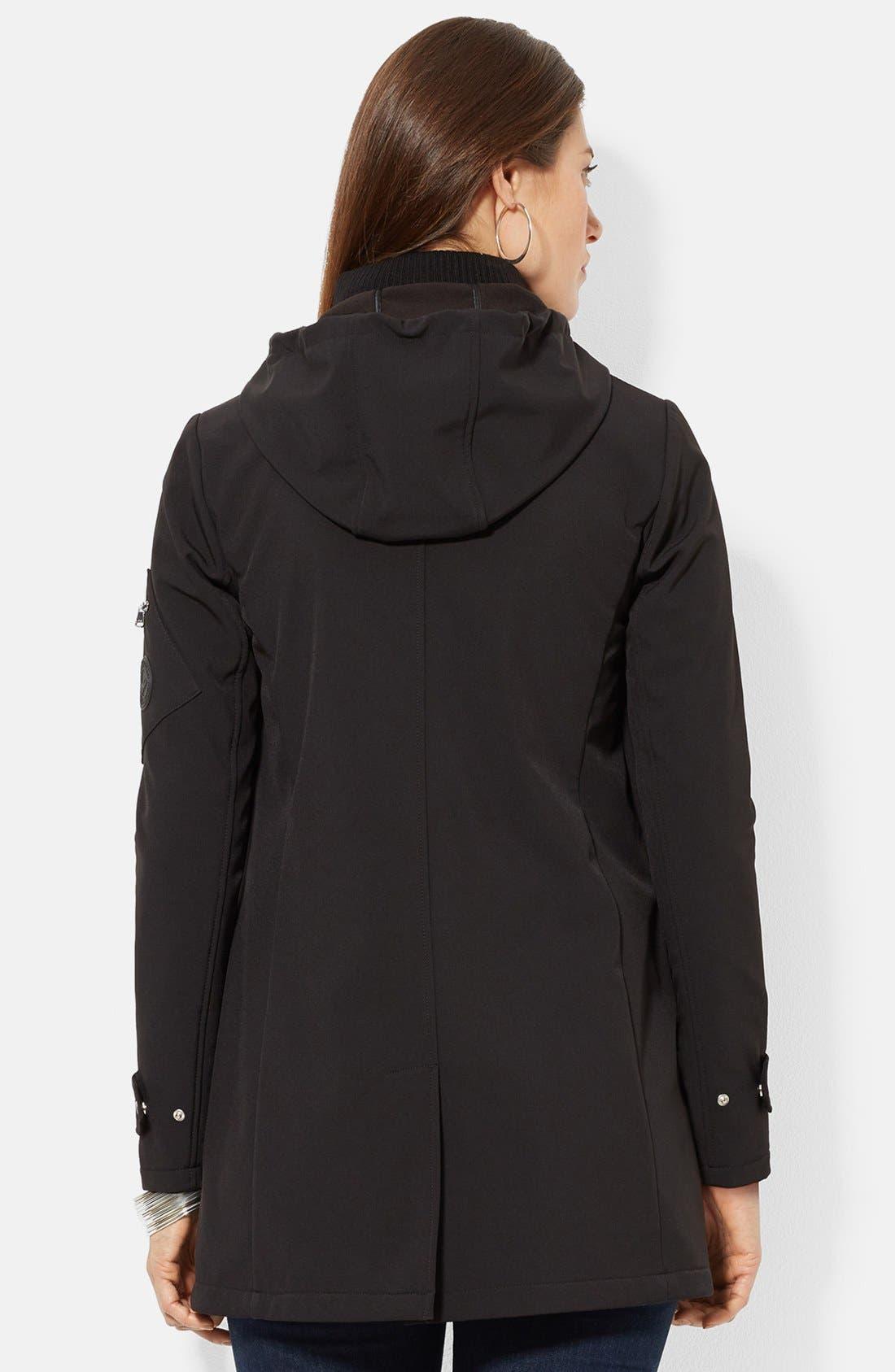 Alternate Image 2  - Lauren Ralph Lauren Front Insert Hooded Soft Shell Jacket (Online Only)