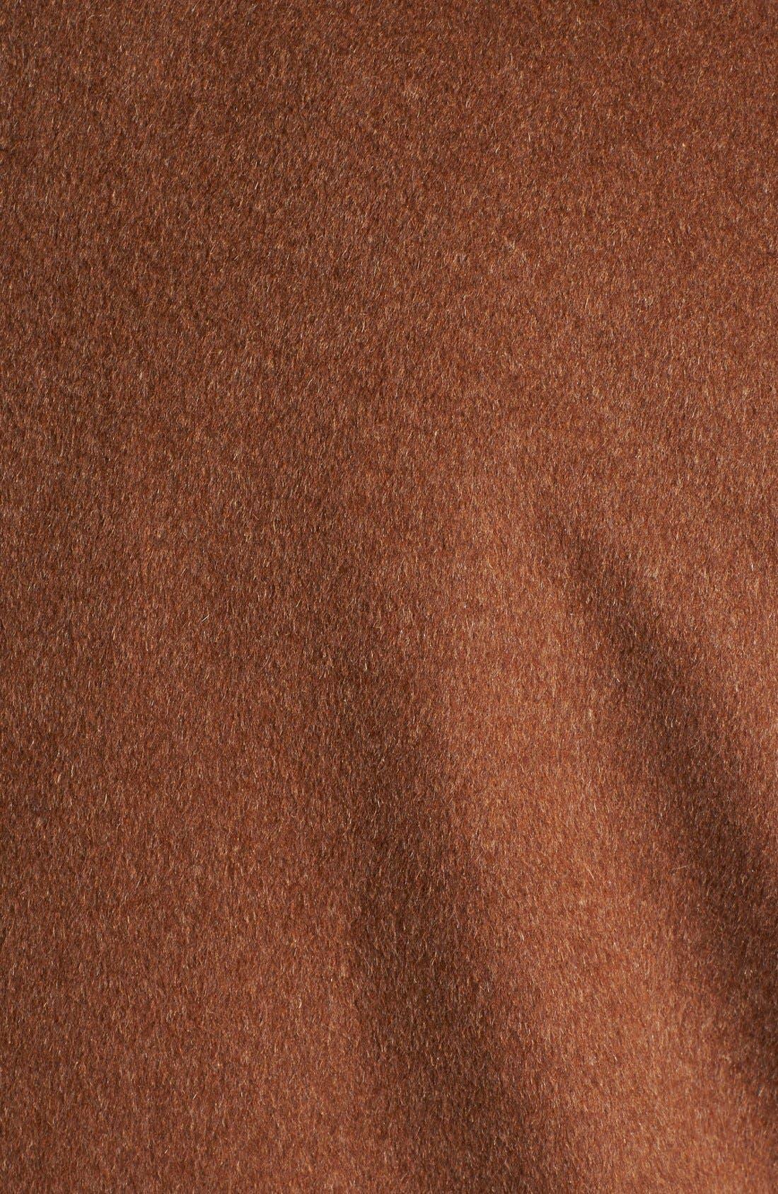 Alternate Image 3  - Ellen Tracy Fly Front Wool Blend Topper (Plus Size)