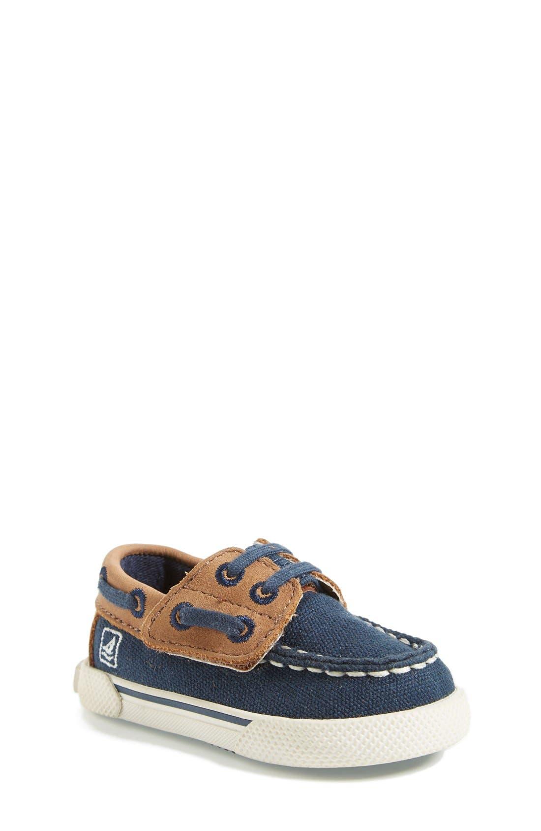 Main Image - Sperry Top-Sider® Kids 'Halyard' Crib Shoe (Baby)