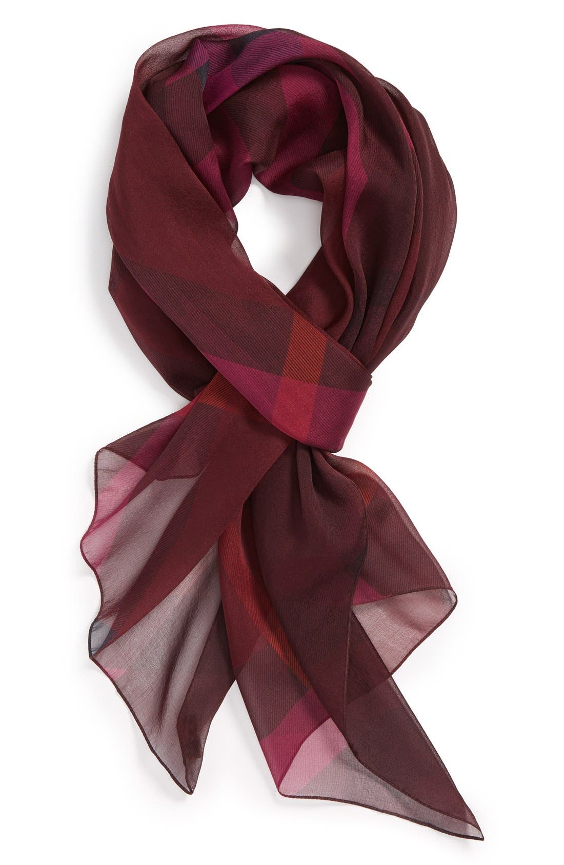 Alternate Image 1 Selected - Burberry 'Mega Check' Silk Scarf