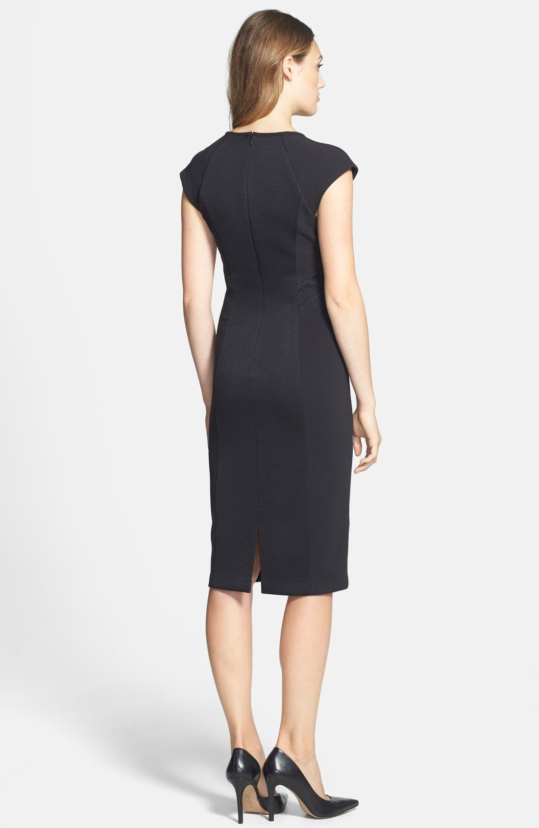 Alternate Image 2  - Marc New York by Andrew Marc Knit Midi Dress (Regular & Petite)