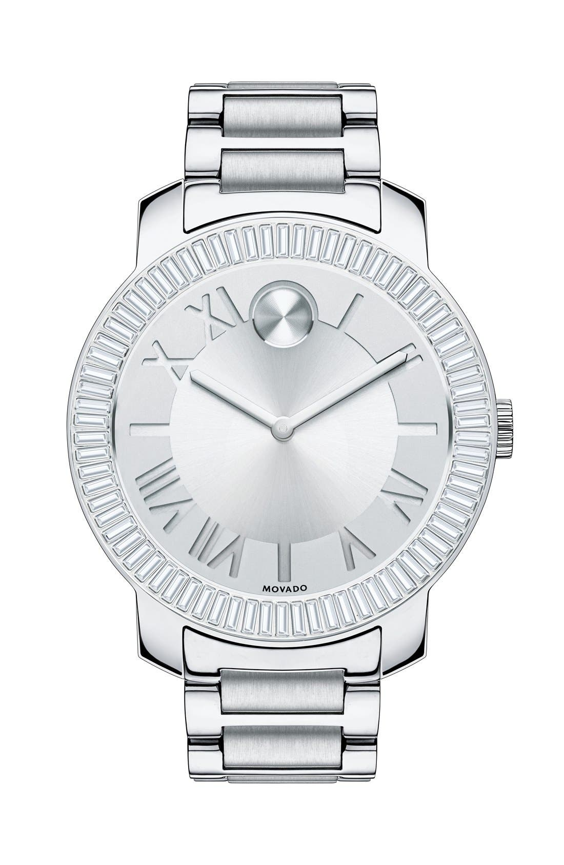 Main Image - Movado 'Bold' Crystal Bezel Bracelet Watch, 39mm