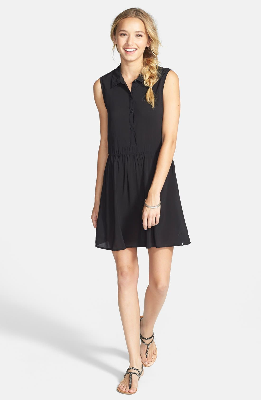Alternate Image 3  - Volcom 'Shady' Button Front Shift Dress