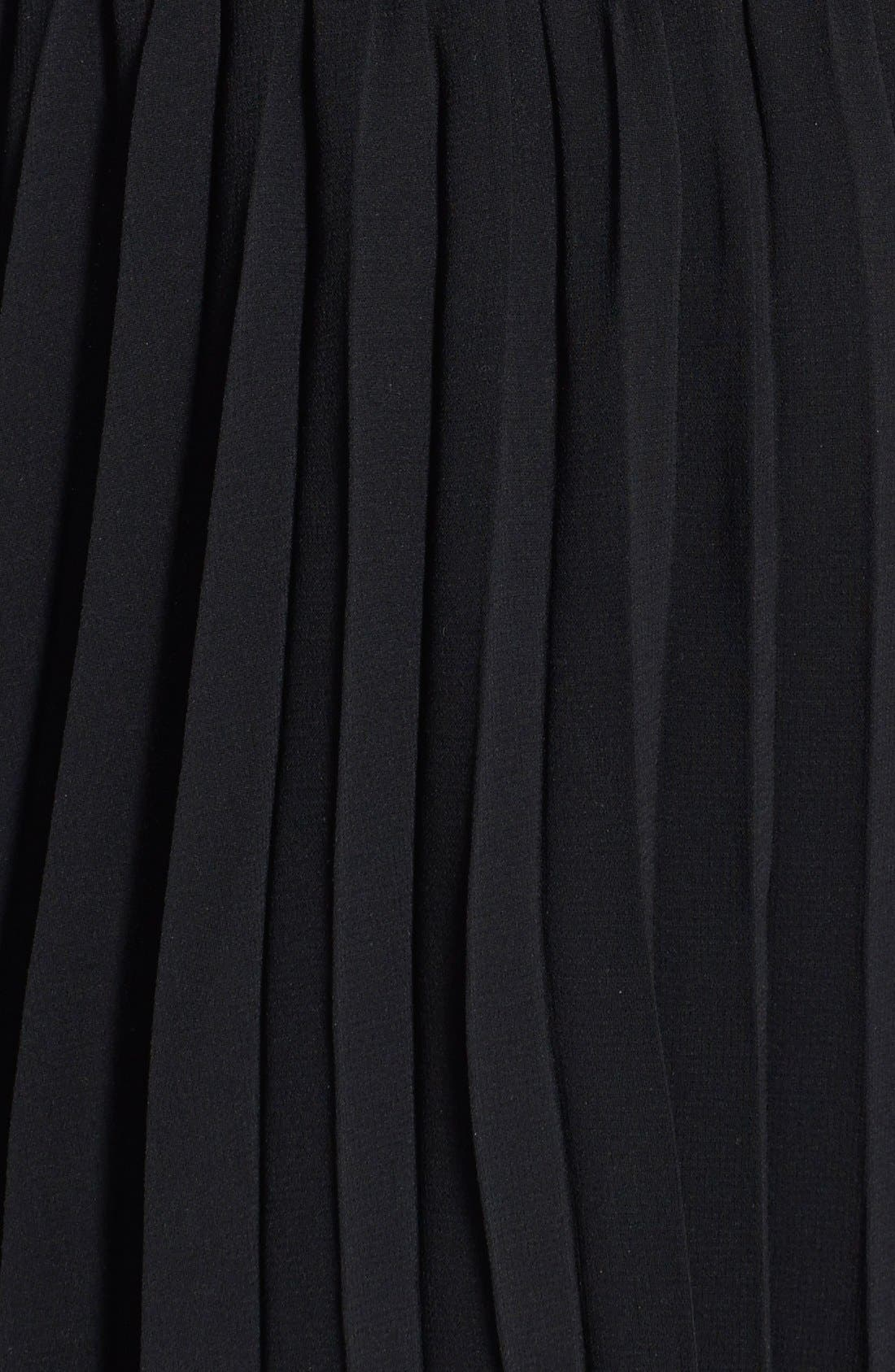 Alternate Image 4  - Way-In Embellished Pleated Skater Dress (Juniors)