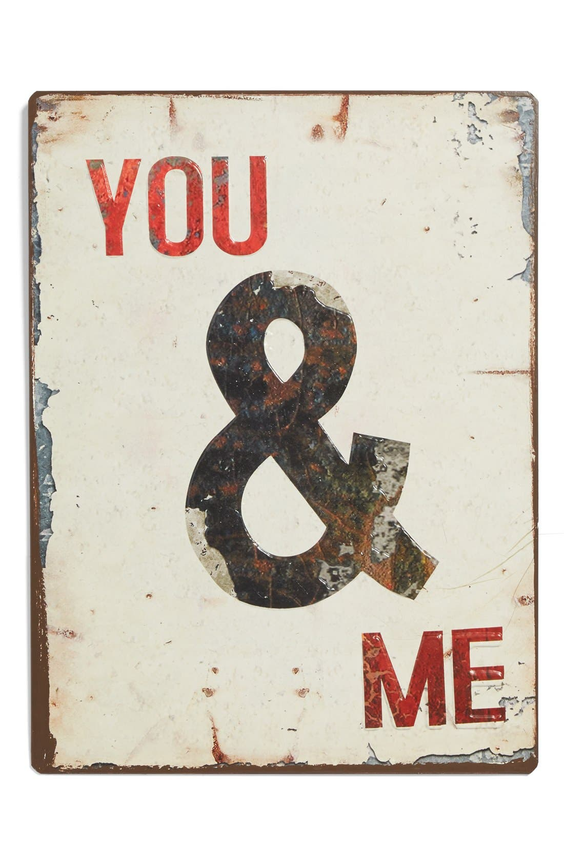 Alternate Image 1 Selected - VIP International 'You and Me' Metal Wall Art