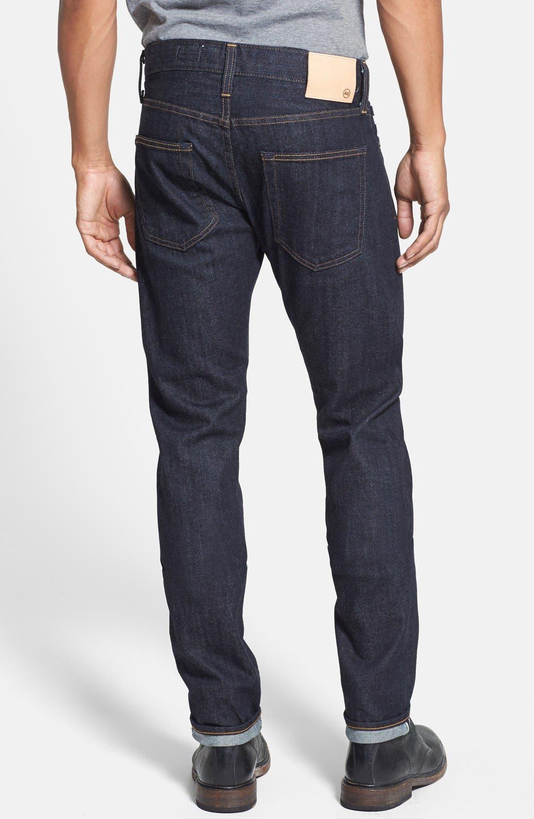 Alternate Image 2  - AG 'Dylan' Skinny Fit Selvedge Jeans (Alpha)
