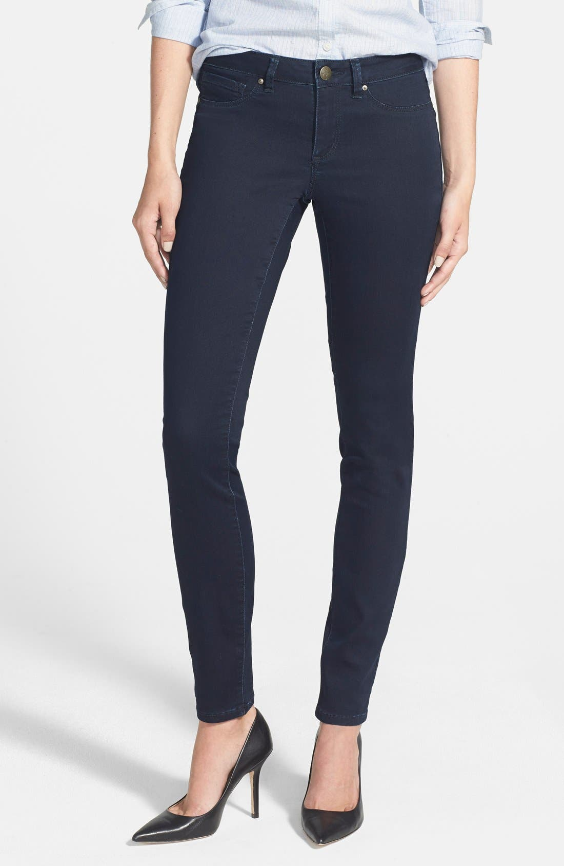 Main Image - Jessica Simpson 'Kiss Me' Super Skinny Jeans (Enzyme Rinse)