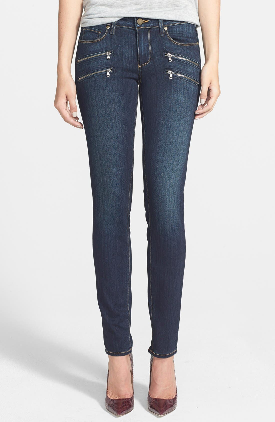 Main Image - Paige Denim 'Edgemont' Ultra Skinny Jeans (Armstrong No Whiskers)