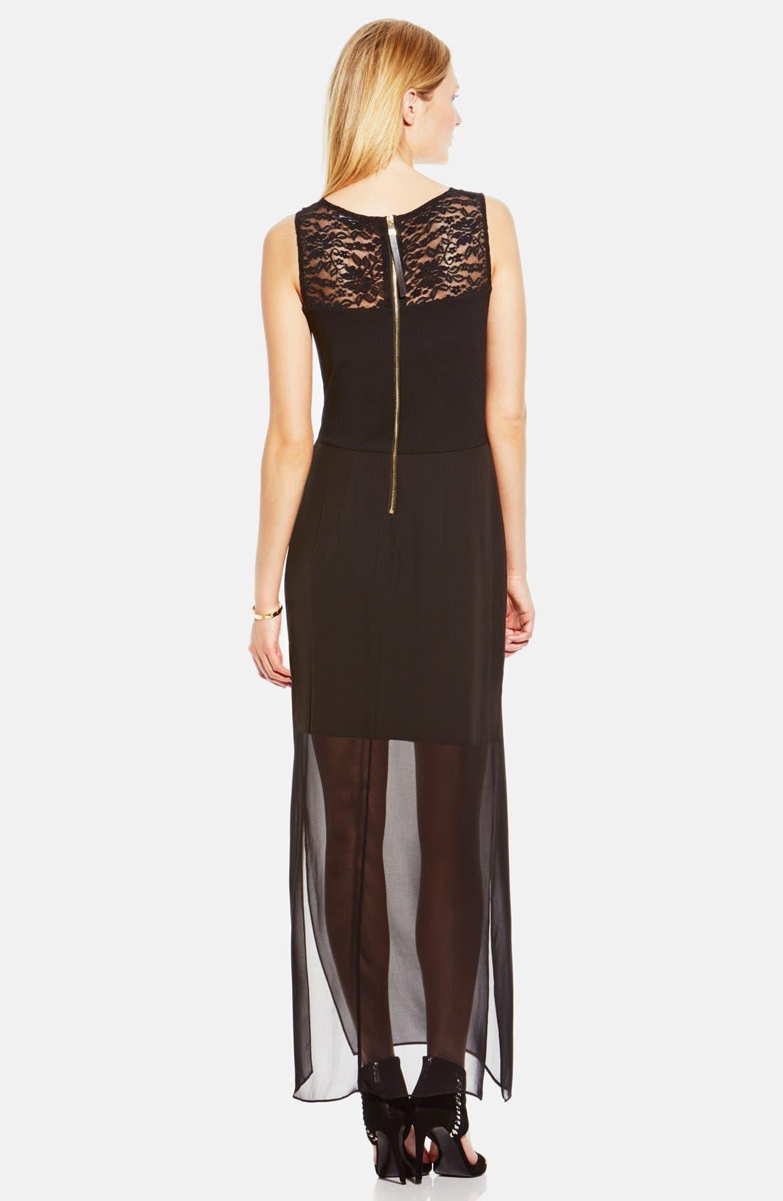 Alternate Image 2  - Vince Camuto Chiffon Overlay Maxi Dress